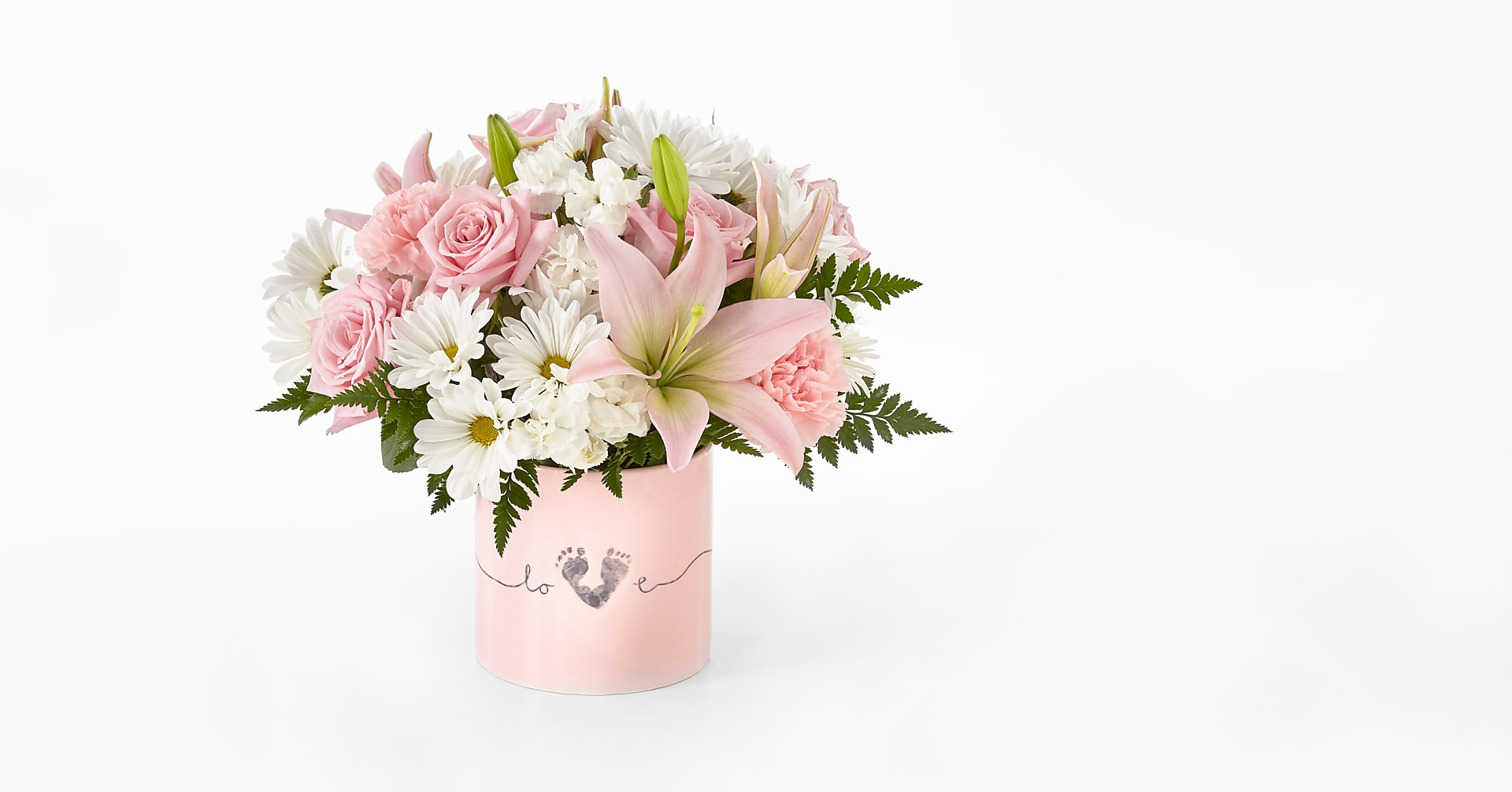 Tiny Miracle™ New Baby Girl Bouquet - VASE INCLUDED - Image 1 Of 4
