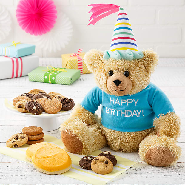 Mrs. Fields® Happy Birthday Bear with Cookies