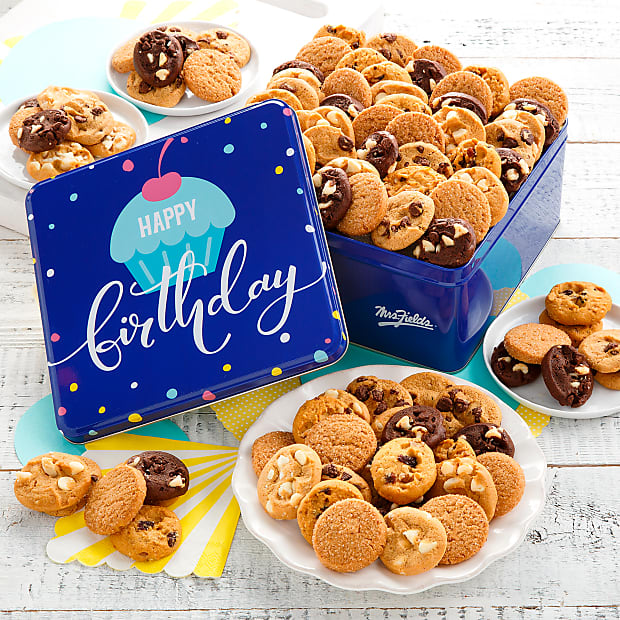Mrs. Fields® Happy Birthday 90 Nibblers® Tin