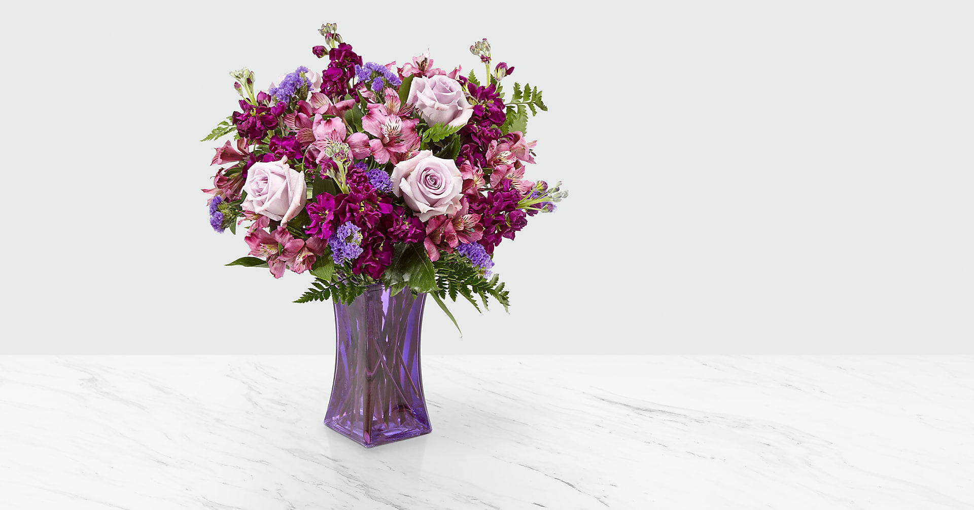 Purple Presence™ Bouquet- VASE INCLUDED - Image 1 Of 4