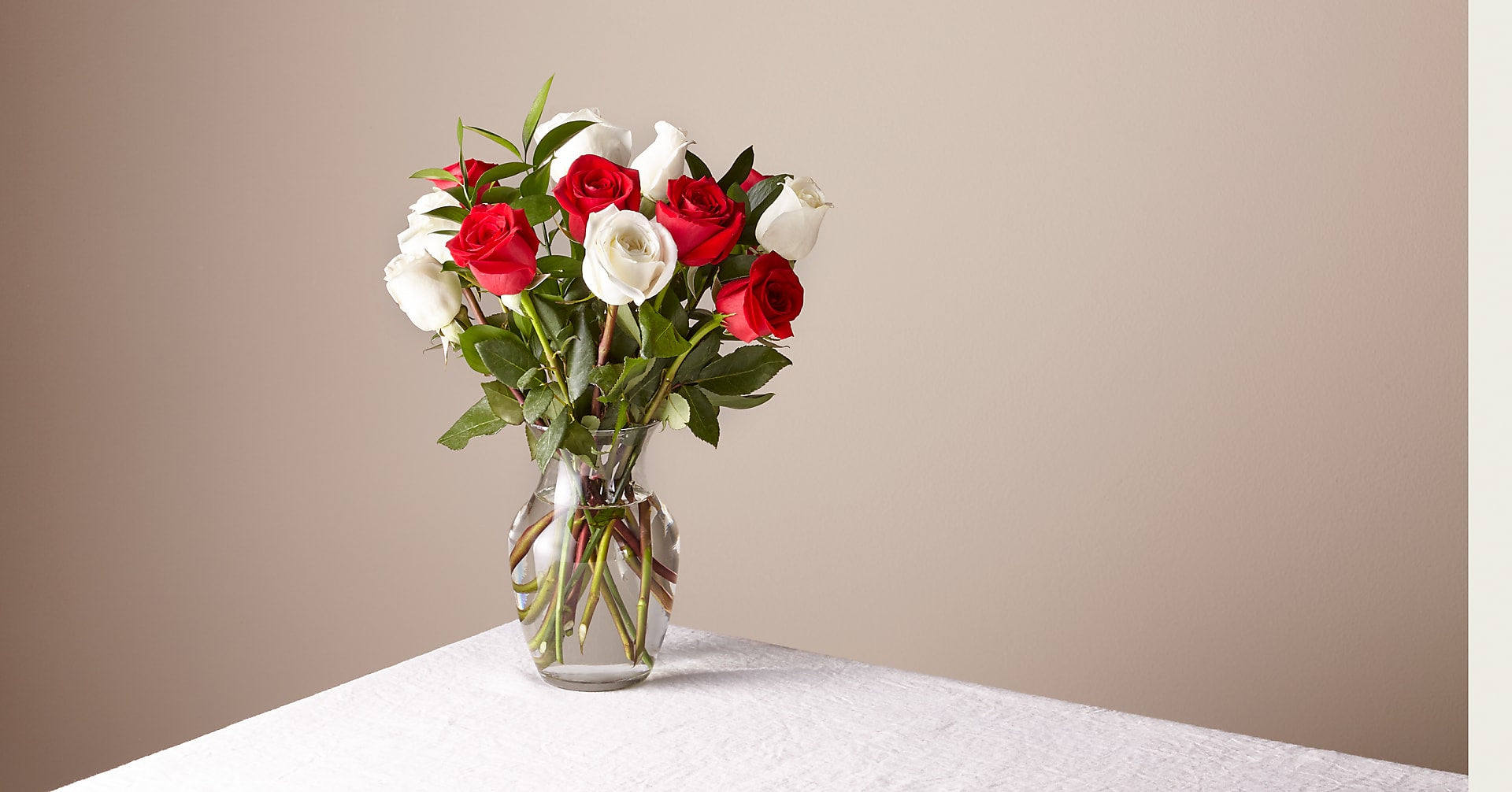 Original Nutcracker Rose Bouquet with Vase - Image 1 Of 3