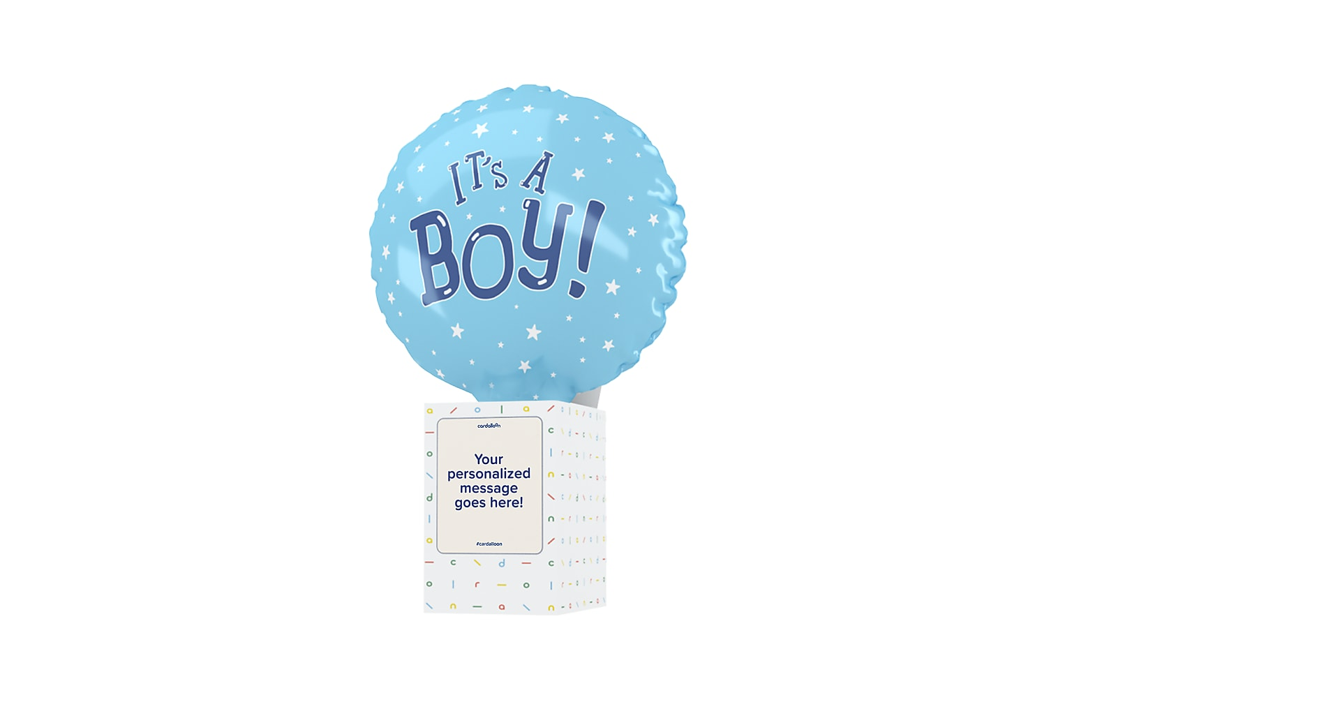 Its A Boy Cardalloon - Image 1 Of 7