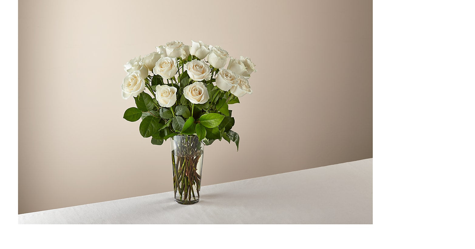 Long Stem White Rose Bouquet - Image 1 Of 3
