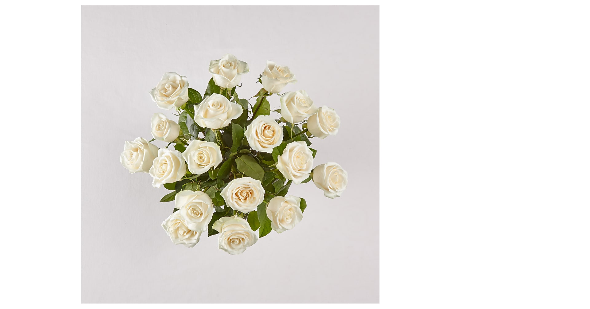 Long Stem White Rose Bouquet - Image 2 Of 3