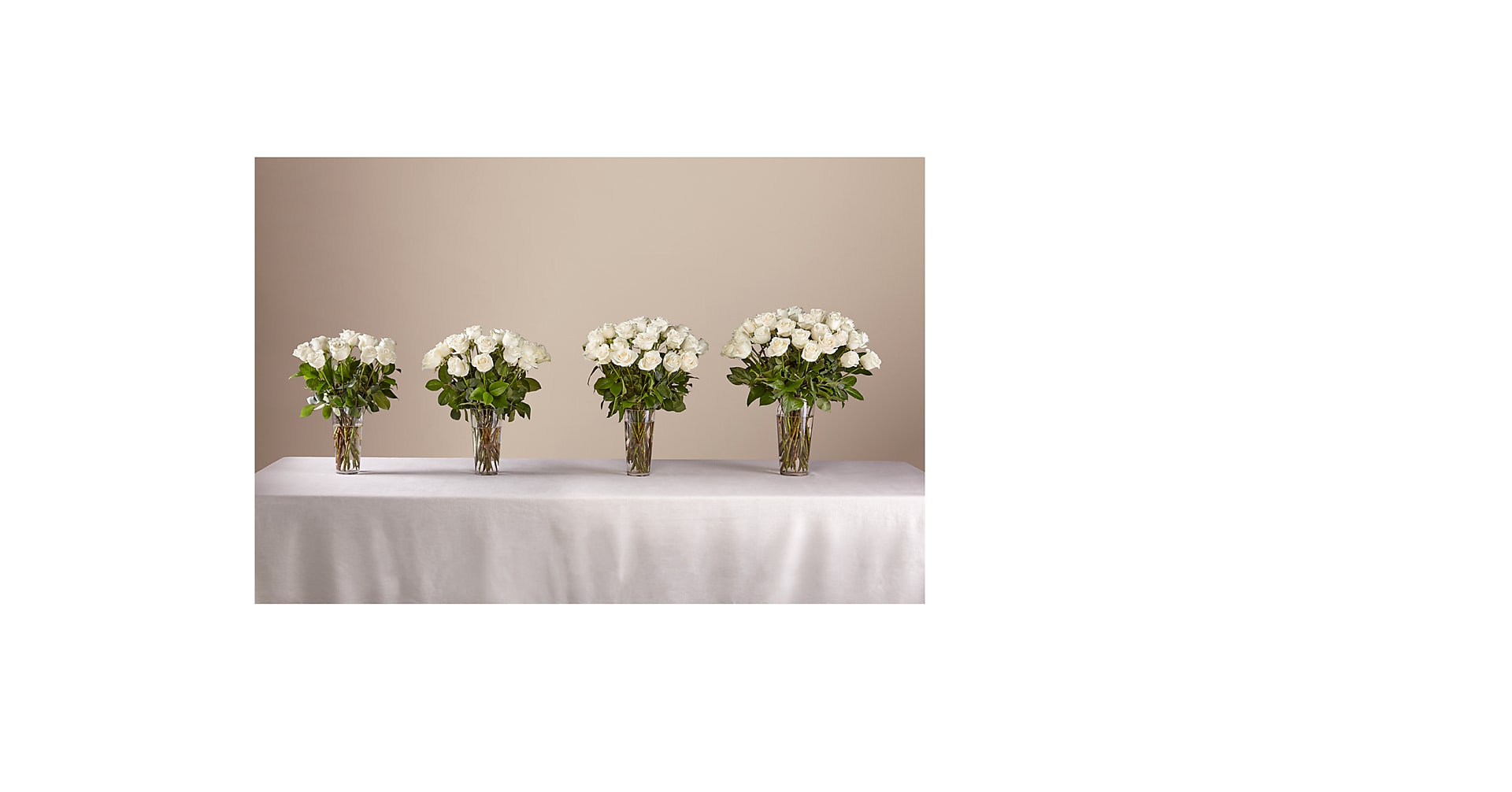 Long Stem White Rose Bouquet - Image 3 Of 3