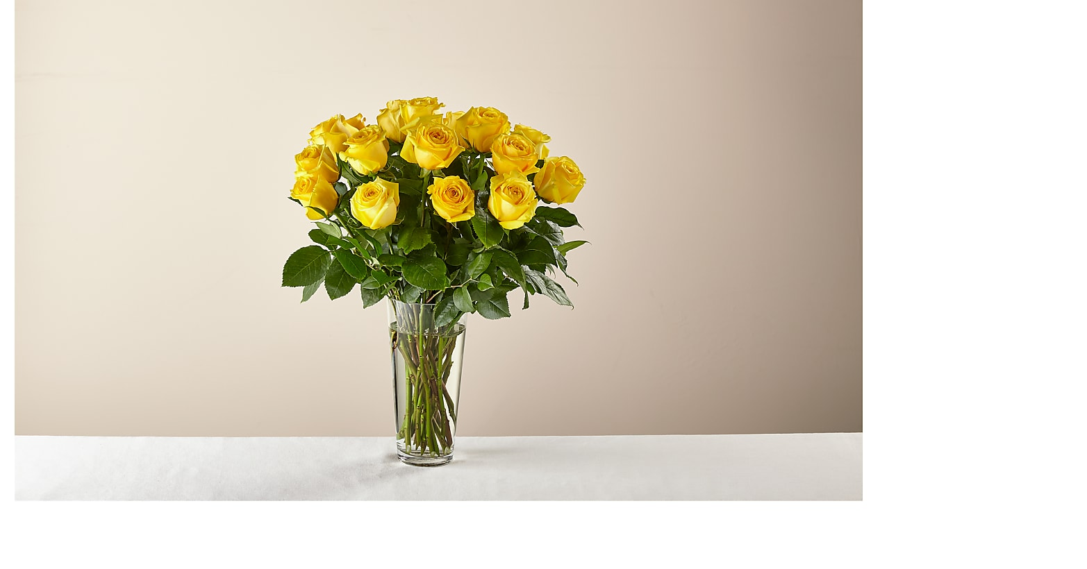 Long Stem Yellow Rose Bouquet - Image 1 Of 3