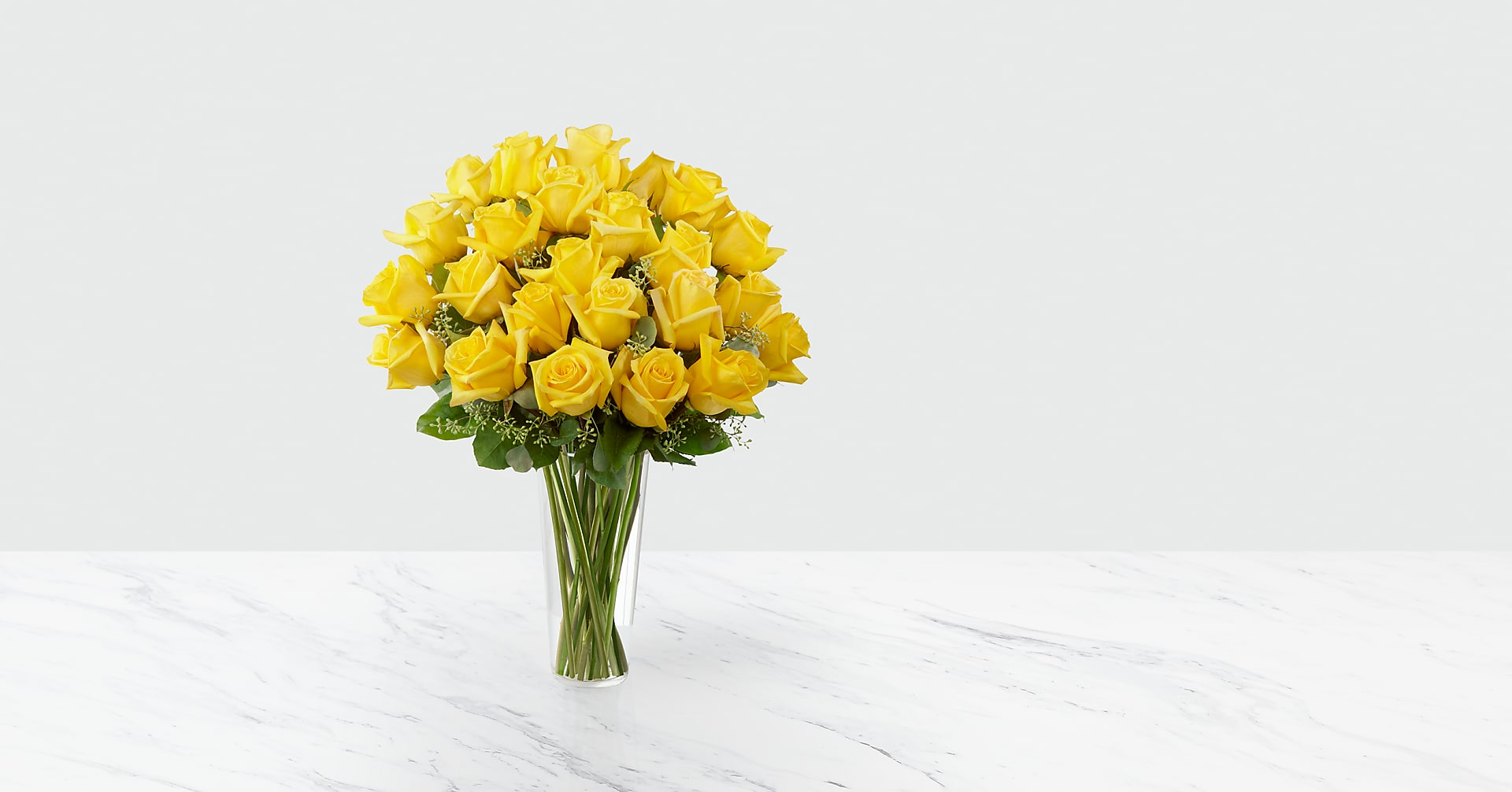 The Yellow Rose Bouquet - VASE INCLUDED - Image 1 Of 3
