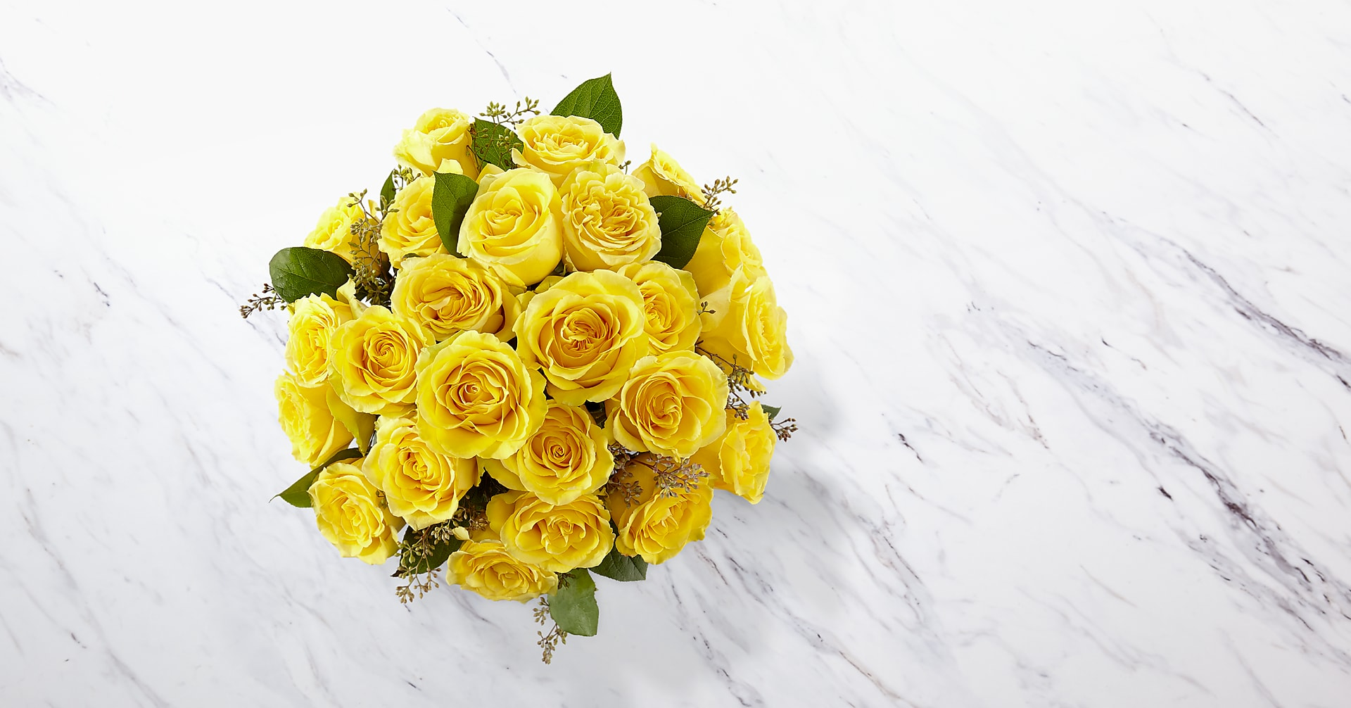 The Yellow Rose Bouquet - VASE INCLUDED - Image 2 Of 3