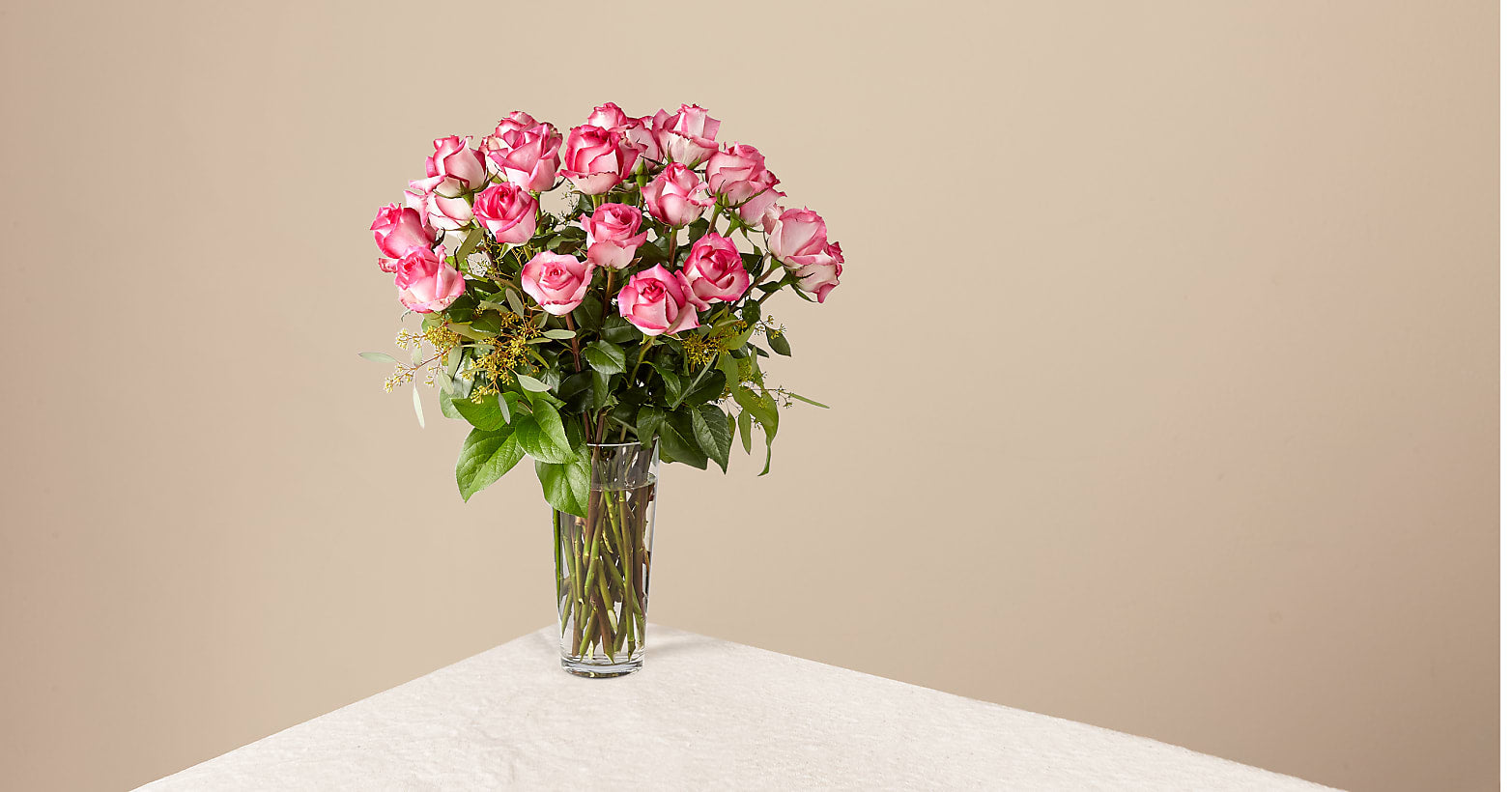 The Long Stem Pink Rose Bouquet - Image 1 Of 3
