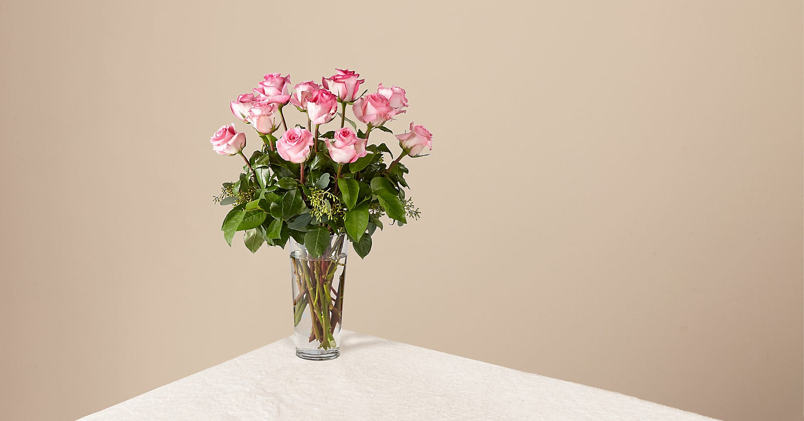 The Long Stem Pink Rose Bouquet - Image 1 Of 2