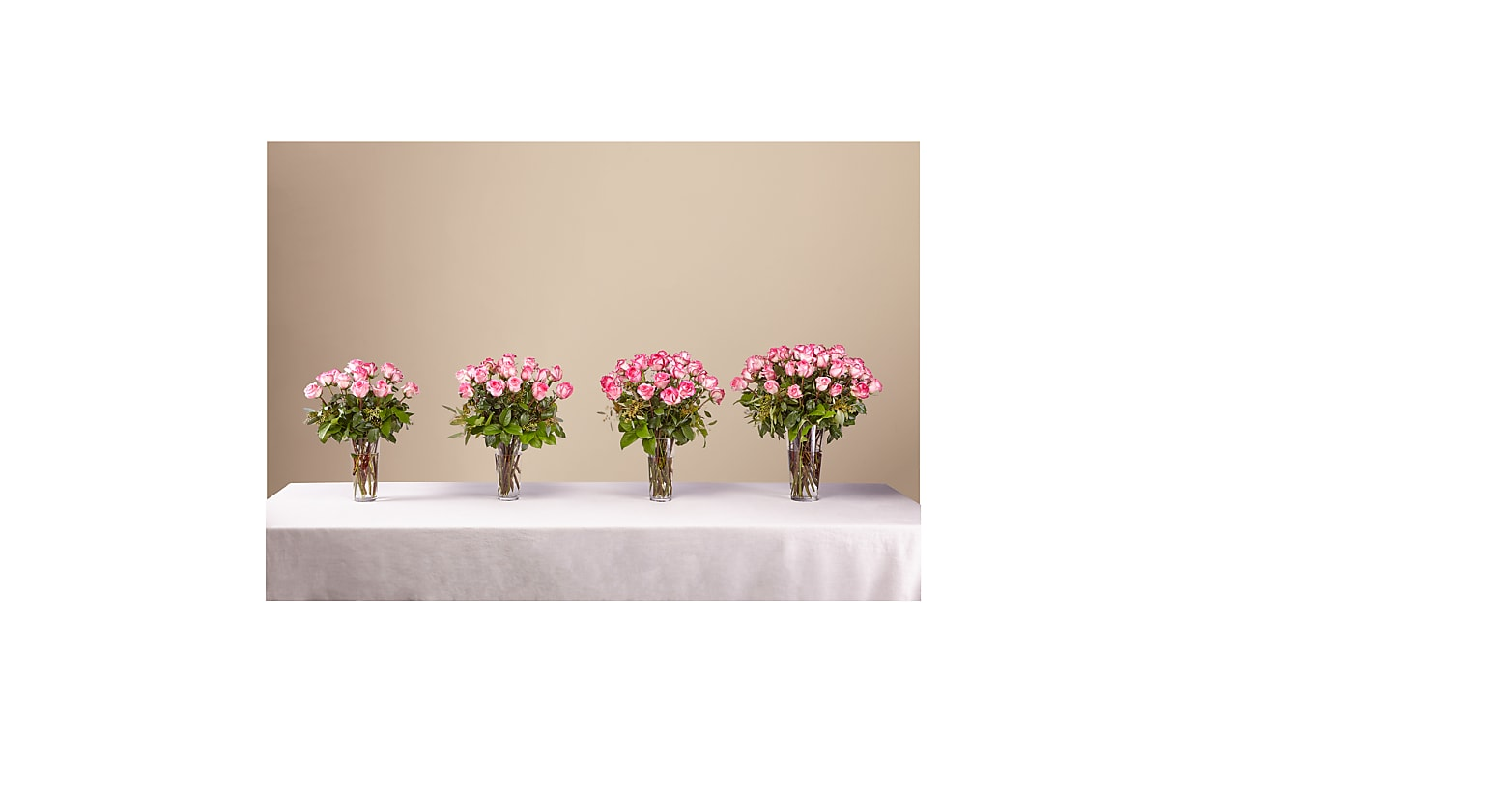 The Long Stem Pink Rose Bouquet - Image 3 Of 3