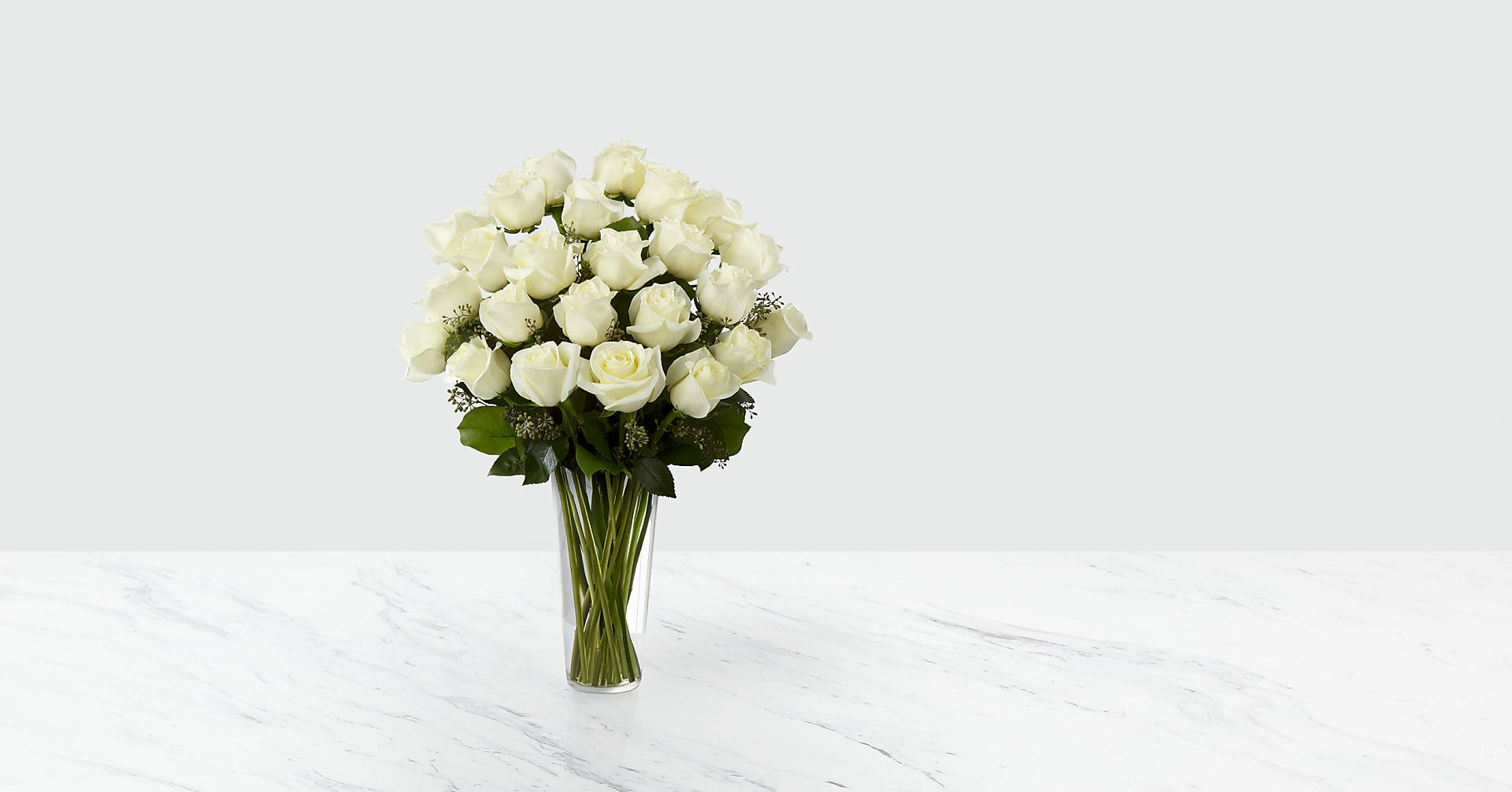 The White Rose Bouquet - VASE INCLUDED - Image 1 Of 2