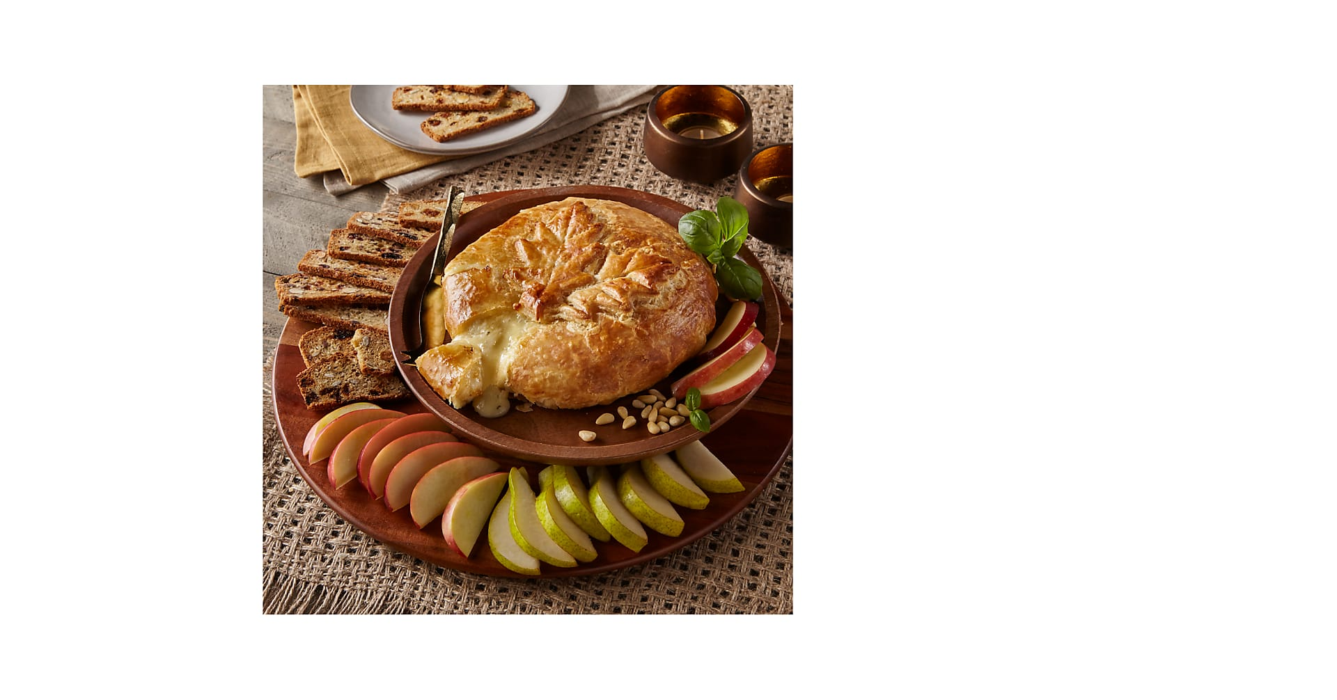 Baked Brie Garlic, Basil and Pine Nut - Image 1 Of 2