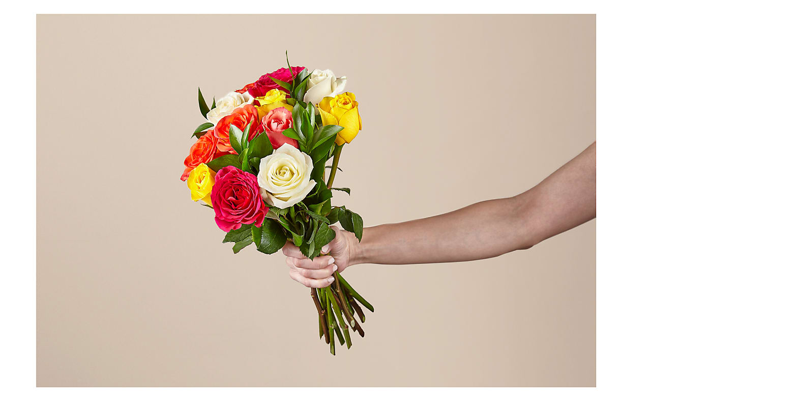 Mixed Roses with Vase - Image 2 Of 4
