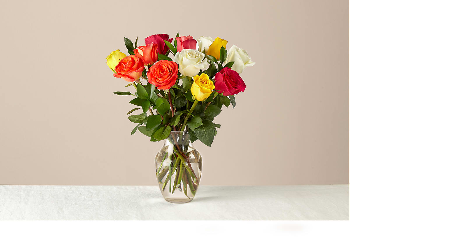 Mixed Roses with Vase - Image 1 Of 4