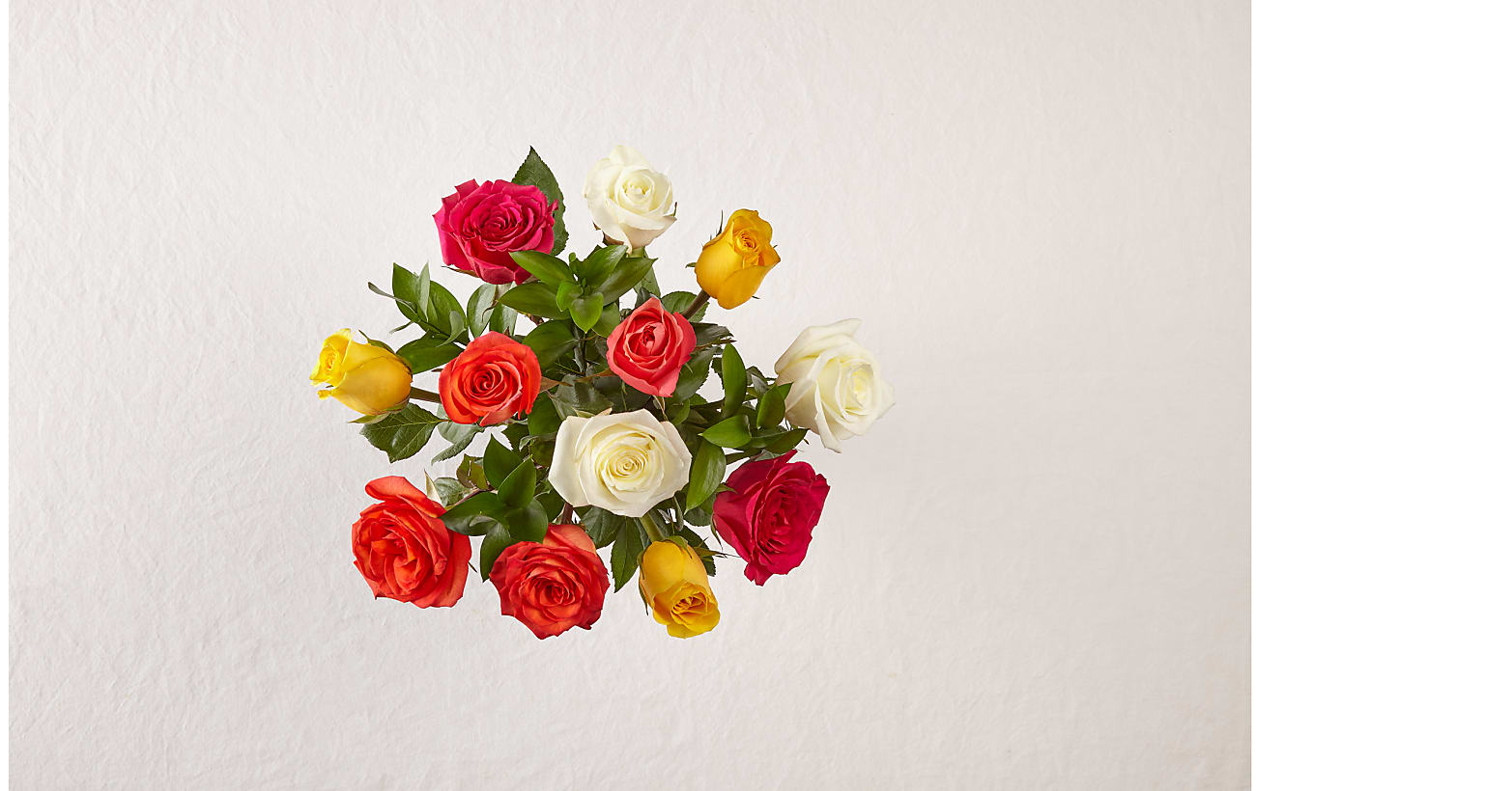 Mixed Roses with Vase - Image 3 Of 4