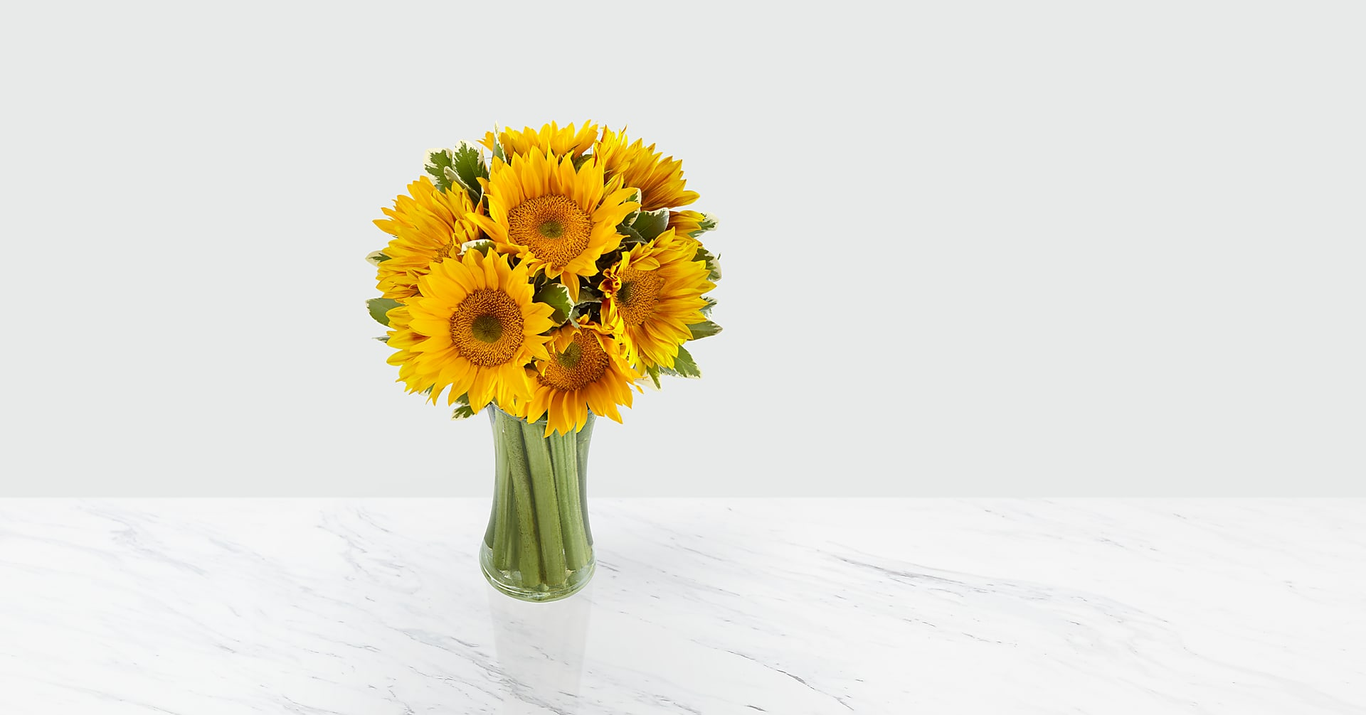 Endless Summer Sunflower Bouquet - 9 Stems with Vase - Image 1 Of 5