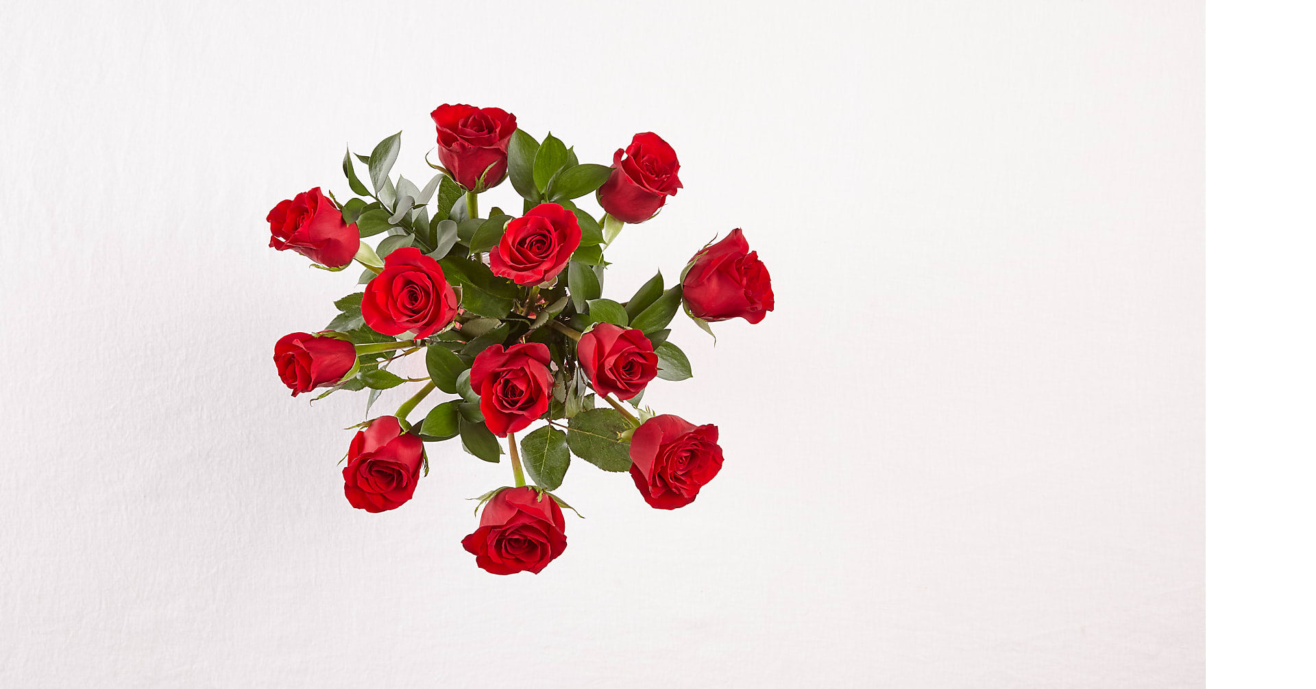 12 Red Roses with Glass Vase - Image 3 Of 4
