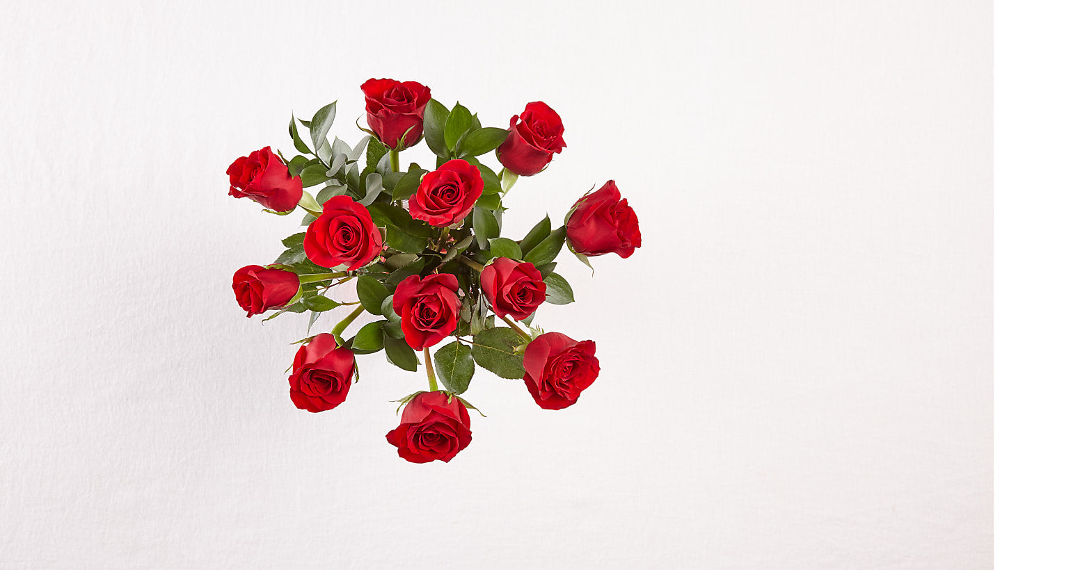 12 Red Roses with Vase - Image 2 Of 2
