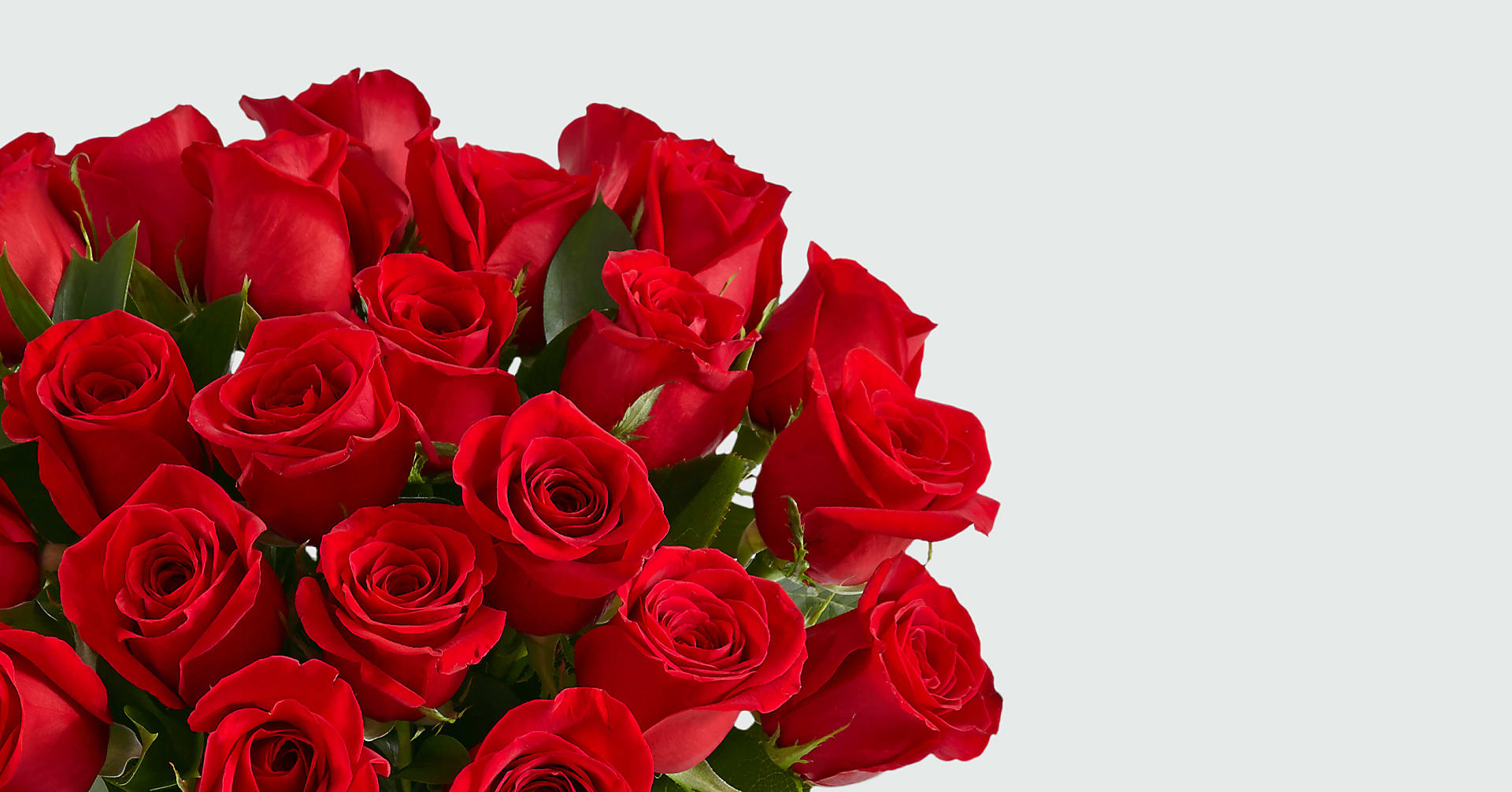 24 Long Stem Red Roses with Glass Vase - Image 4 Of 5