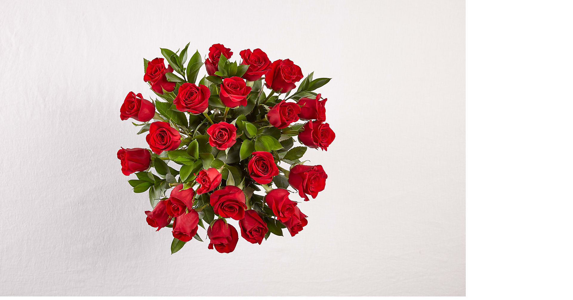 24 Long Stem Red Roses with Glass Vase - Image 3 Of 5