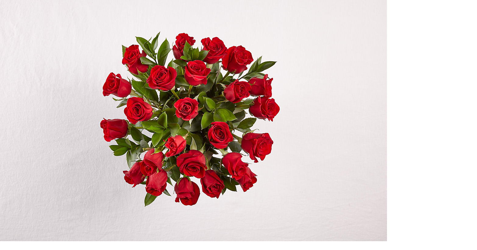 24 Red Roses with Glass Vase - Image 5 Of 5