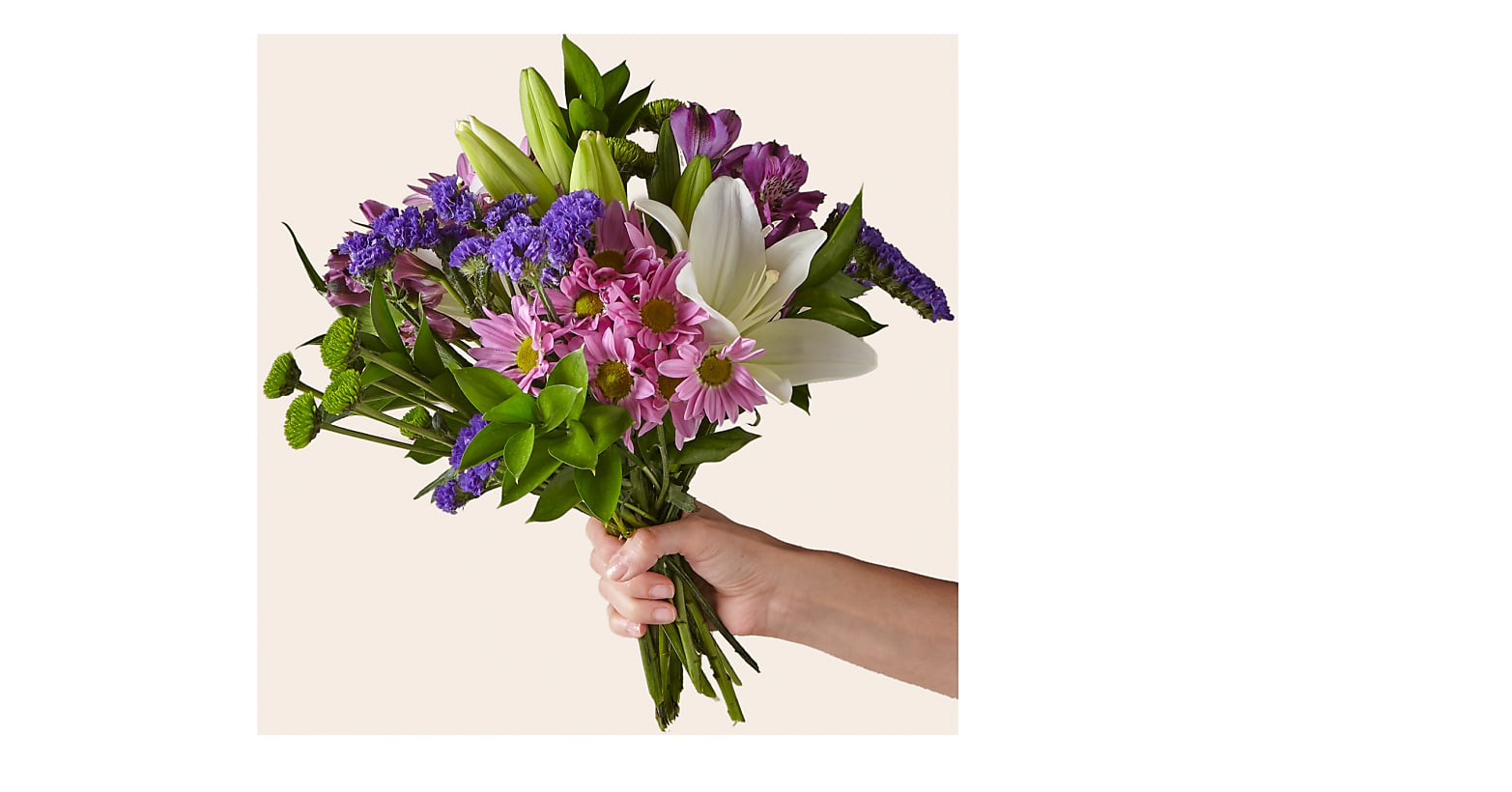 Lavender Fields Mixed Flower Bouquet - Image 1 Of 3