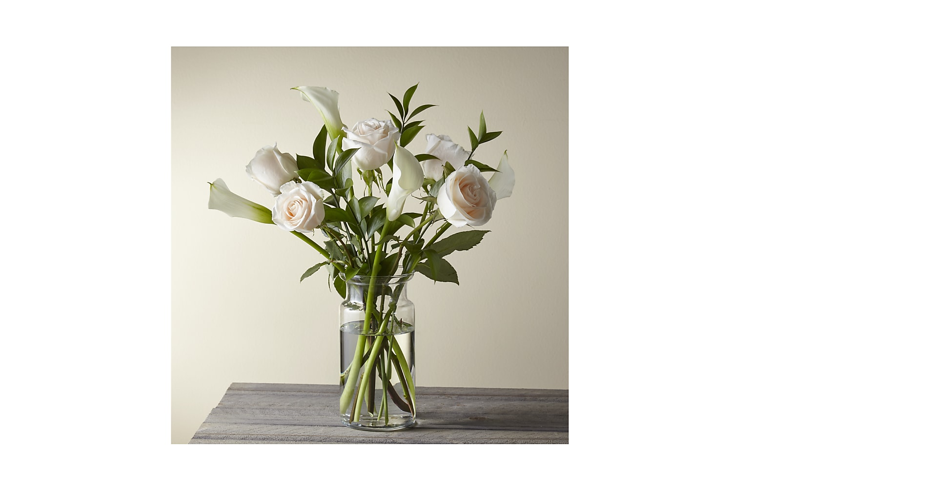 Vision in Ivory Rose and Calla Lily Bouquet - Image 1 Of 3