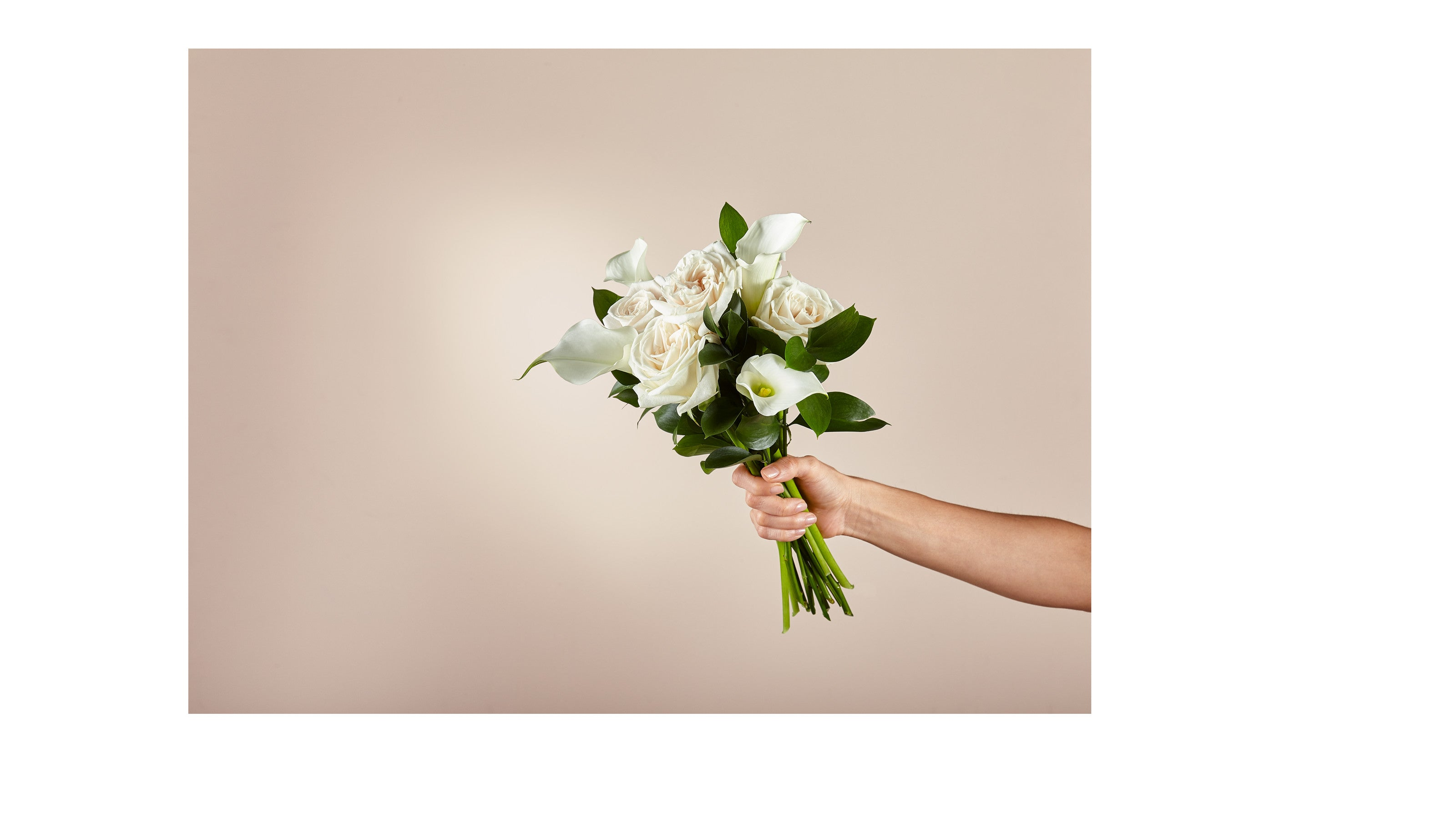 Vision in Ivory Rose and Calla Lily Bouquet