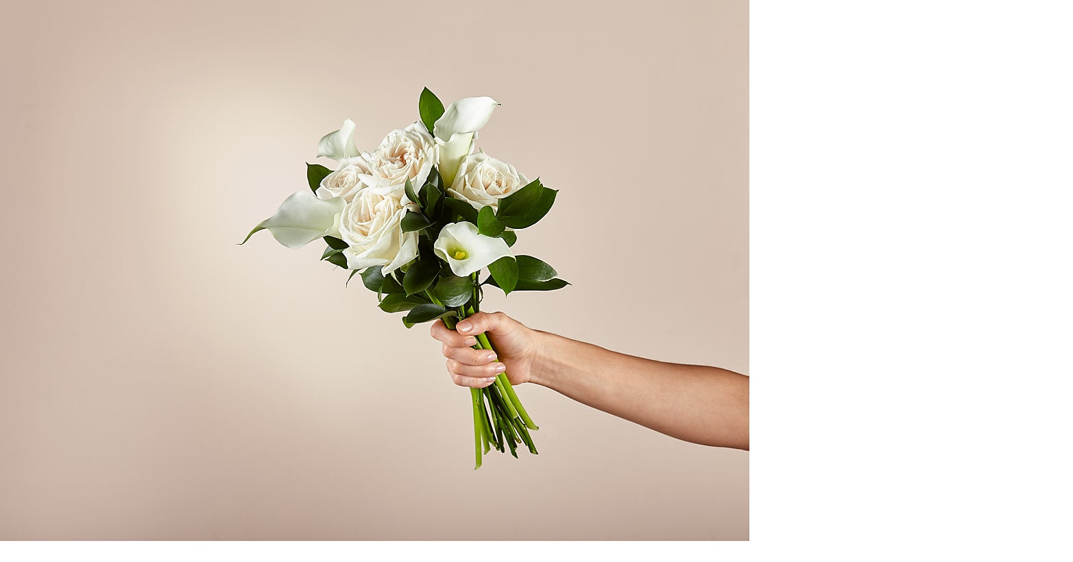 Vision in Ivory Rose and Calla Lily Bouquet - Image 2 Of 3