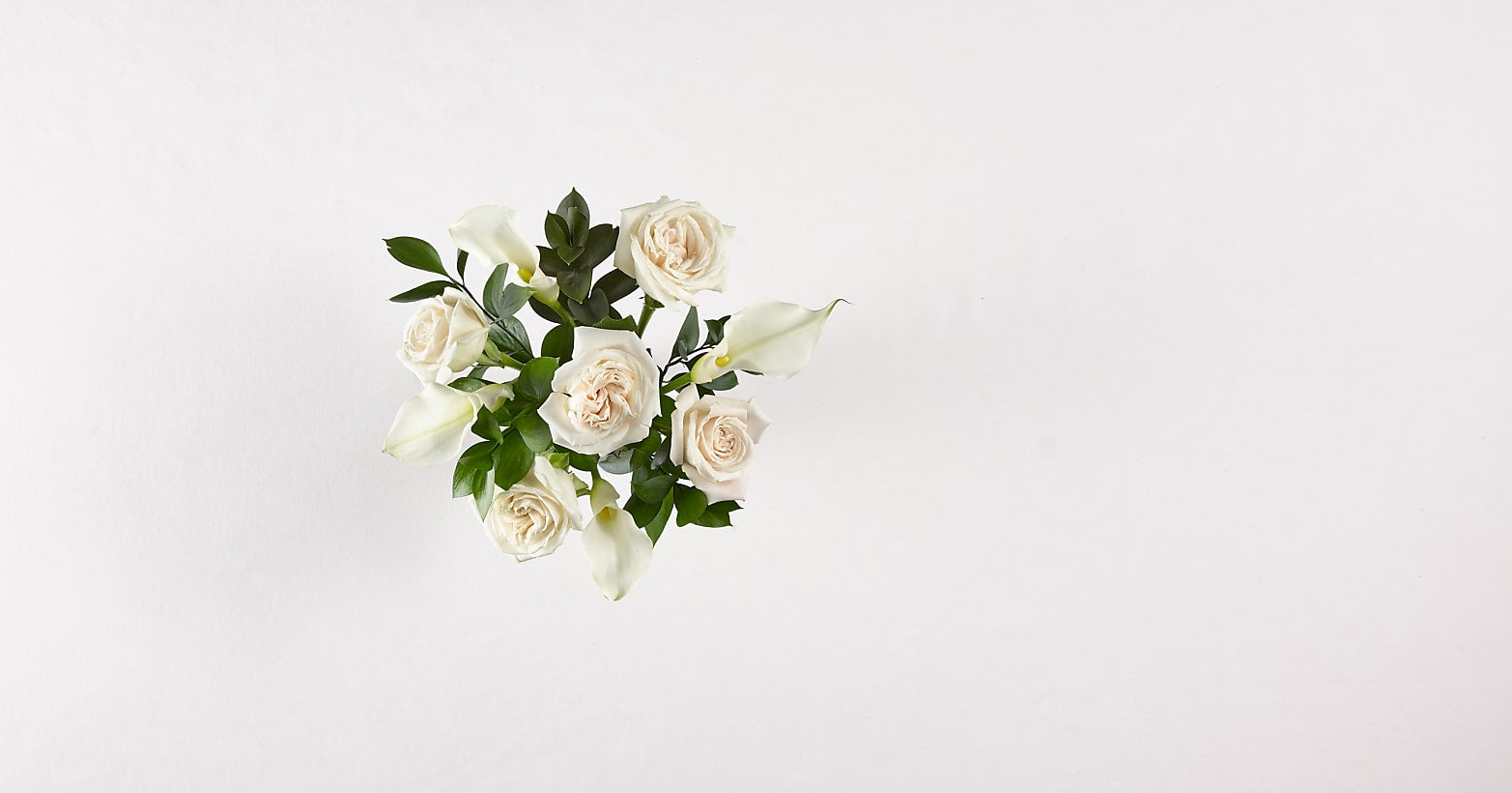 Vision in Ivory Rose and Calla Lily Bouquet - Image 3 Of 3