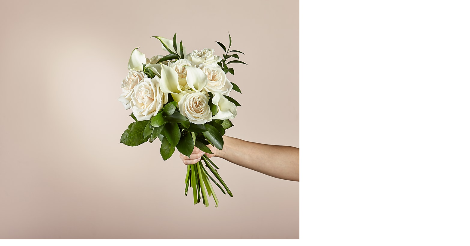 Vision in Ivory Rose and Calla Lily Bouquet - Image 2 Of 5