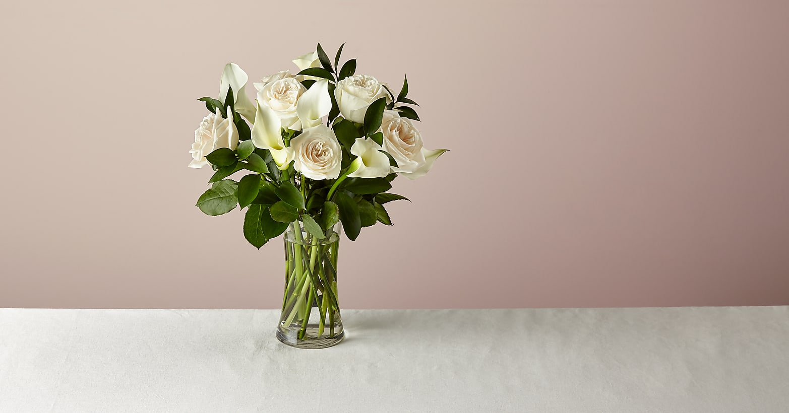 Vision in Ivory Rose and Calla Lily Bouquet - Image 1 Of 5