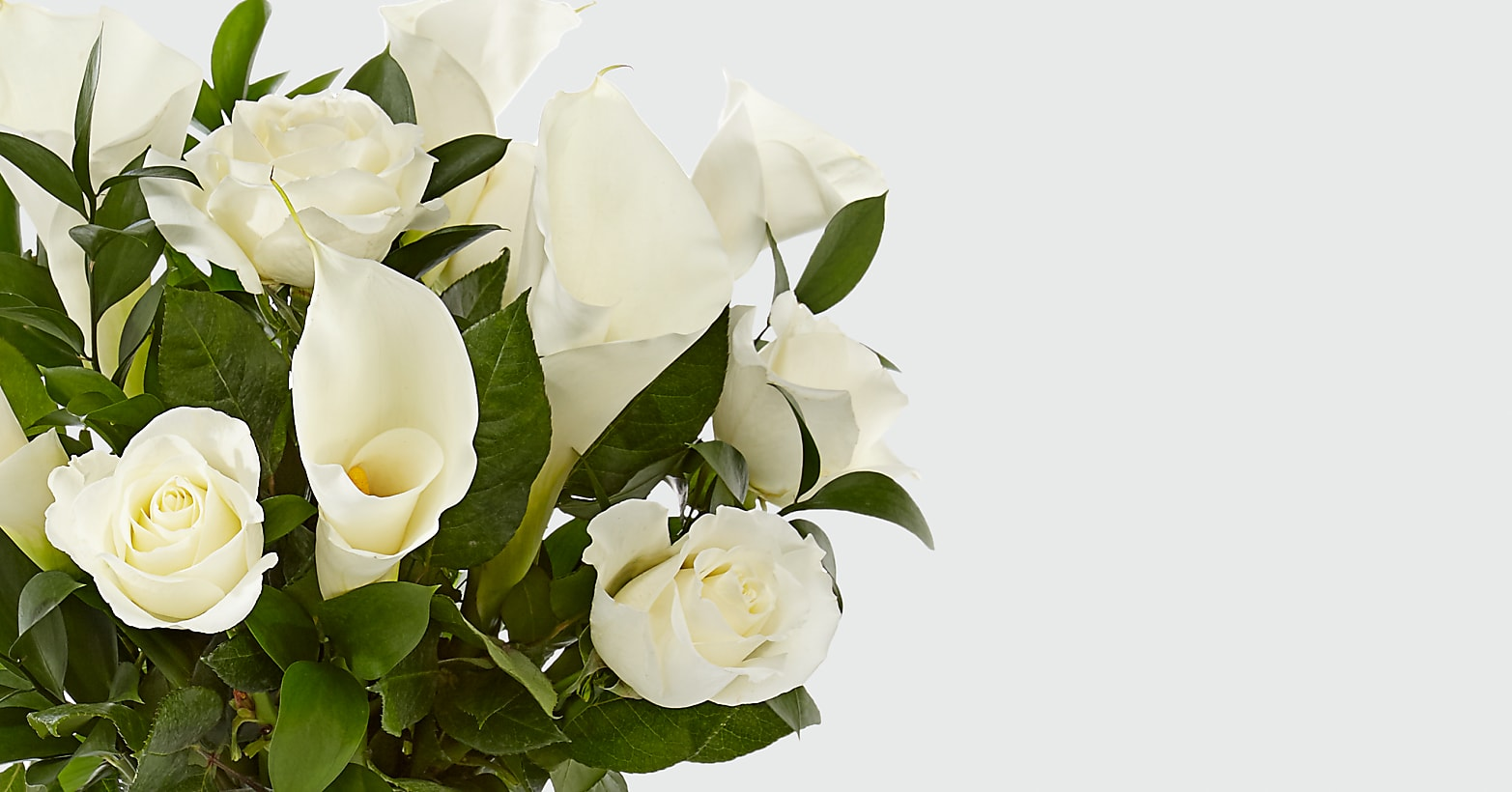 Vision in Ivory Rose and Calla Lily Bouquet - Image 4 Of 5