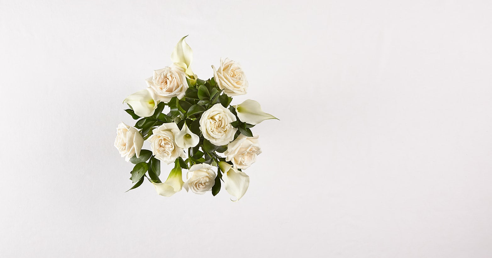 Vision in Ivory Rose and Calla Lily Bouquet - Image 3 Of 5