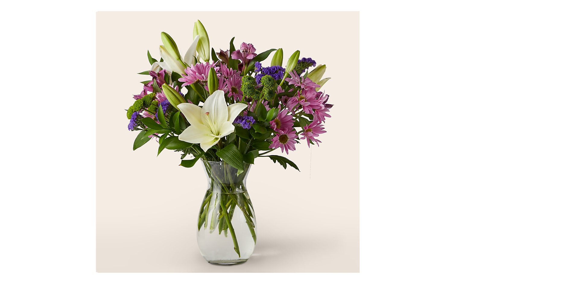 Lavender Fields Mixed Flower Bouquet with Vase - Image 1 Of 3