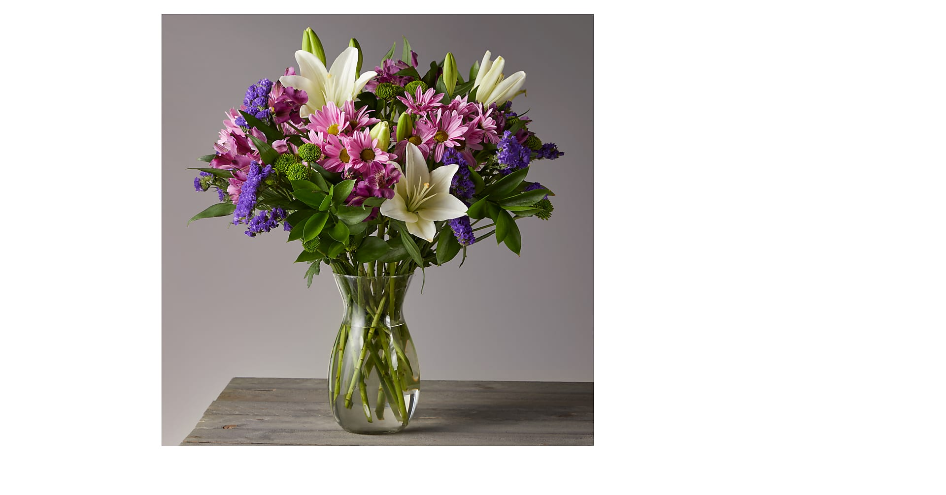 Lavender Fields Mixed Flower Bouquet - VASE INCLUDED - Image 1 Of 4