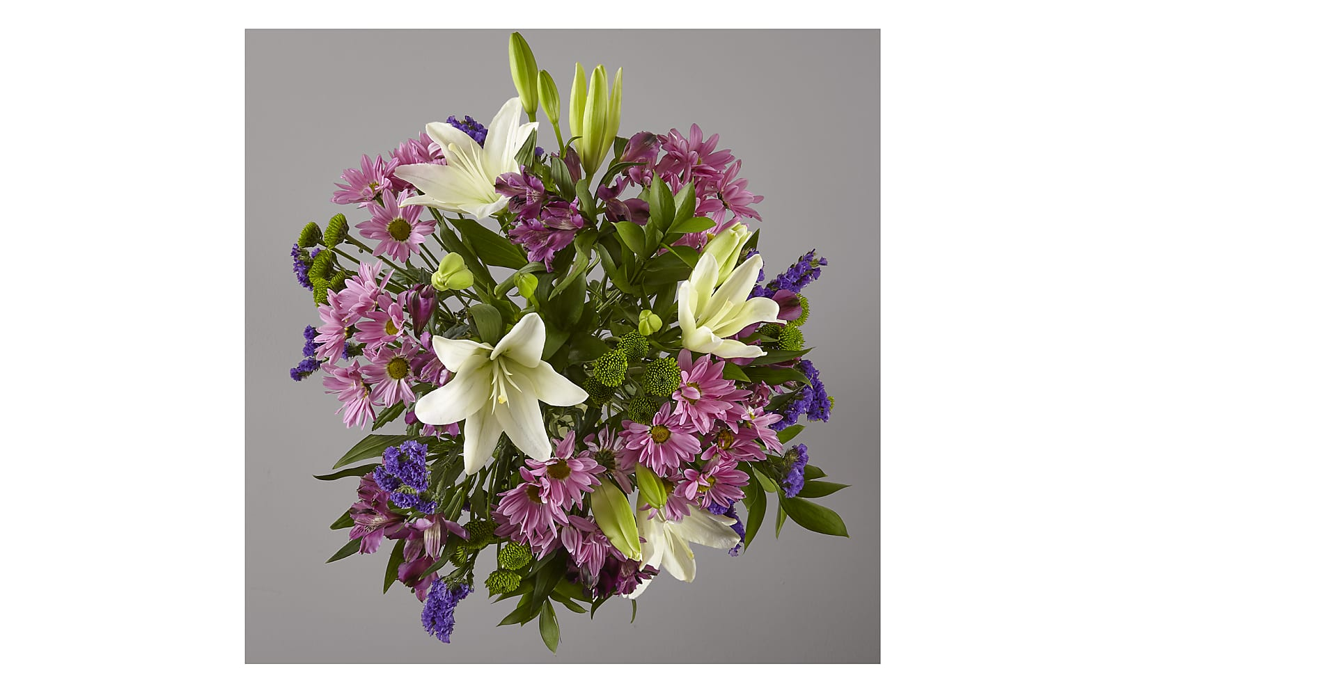 Lavender Fields Mixed Flower Bouquet with Vase - Image 3 Of 4