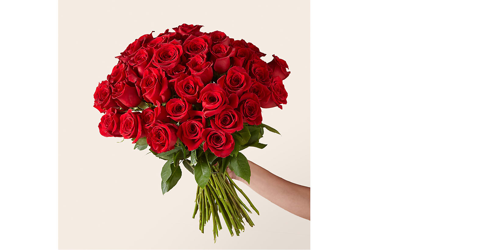 Fifty Long Stem Red Roses with Vase - Image 2 Of 3