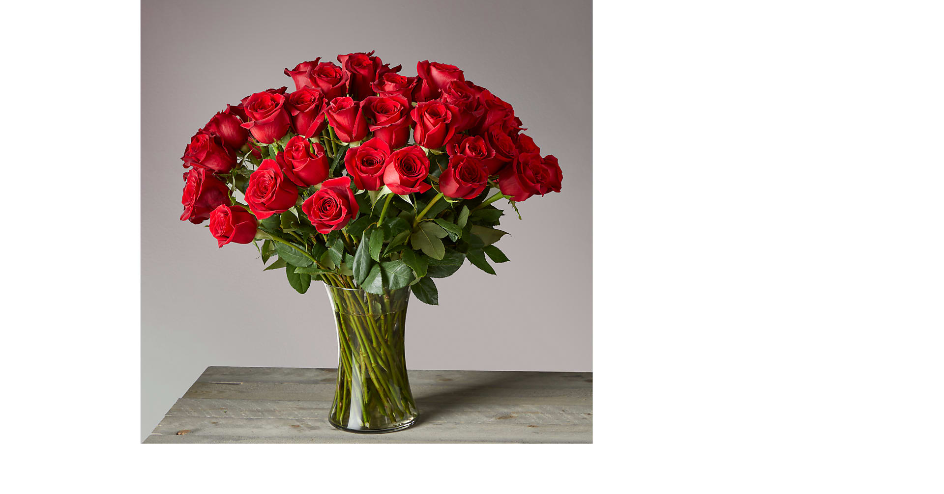 Fifty Long Stem Red Roses of Romance - Image 1 Of 2