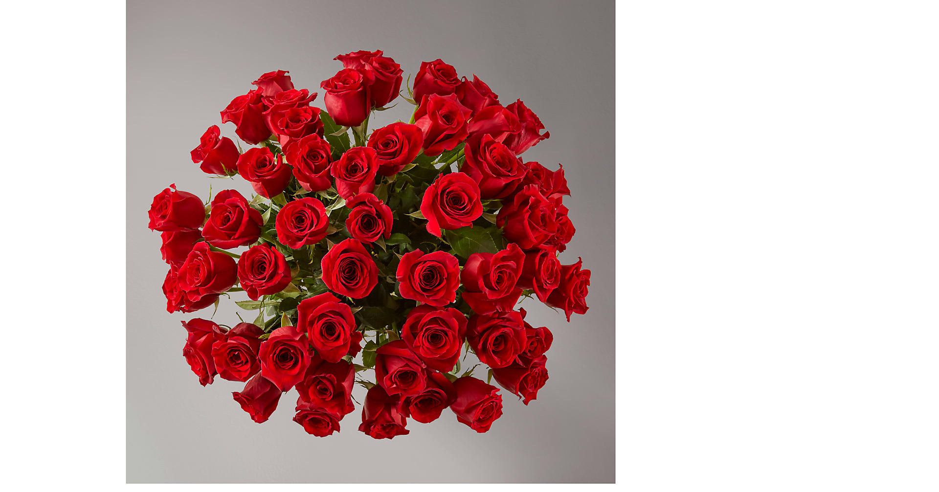Fifty Long Stem Red Roses with Vase - Image 3 Of 3