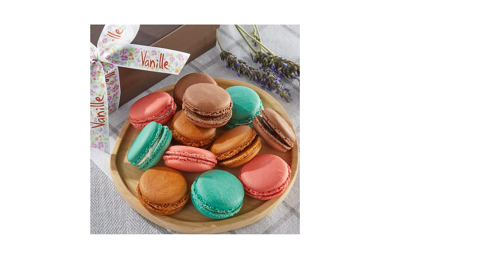 One Dozen Floral Macarons - Image 1 Of 3