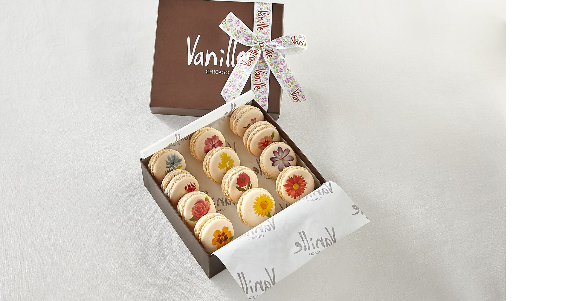 One Dozen Floral Macarons - Image 2 Of 3