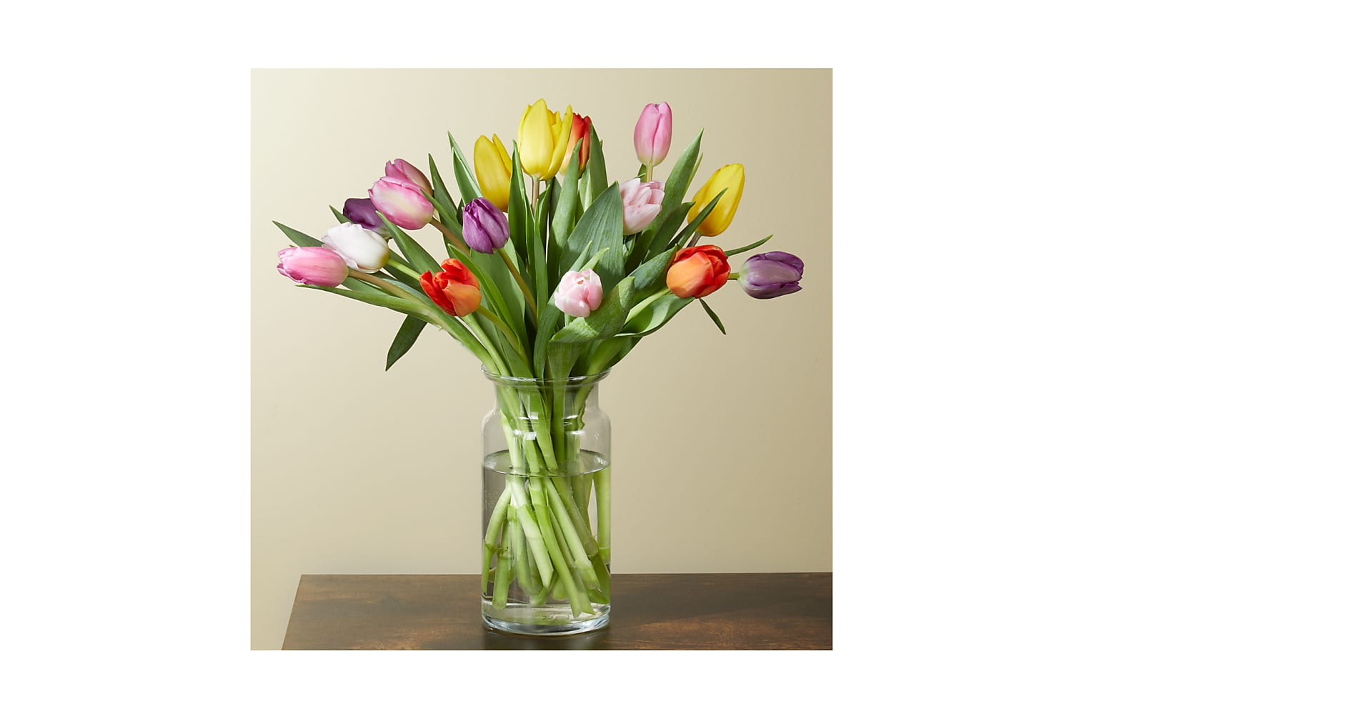 Spring Breeze Multicolored Tulip Bouquet - Image 1 Of 4
