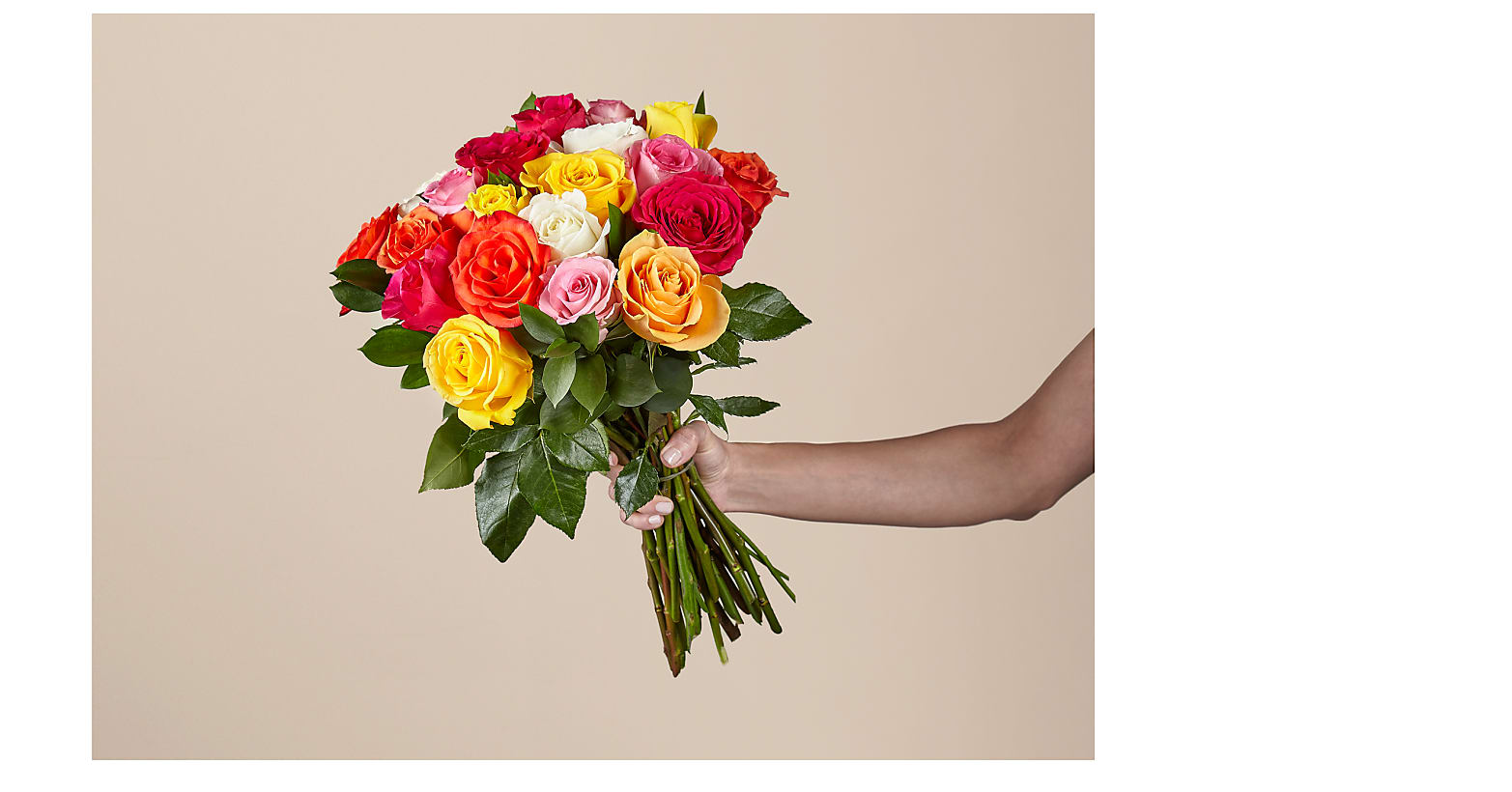 Mixed Roses with Vase - Image 2 Of 6