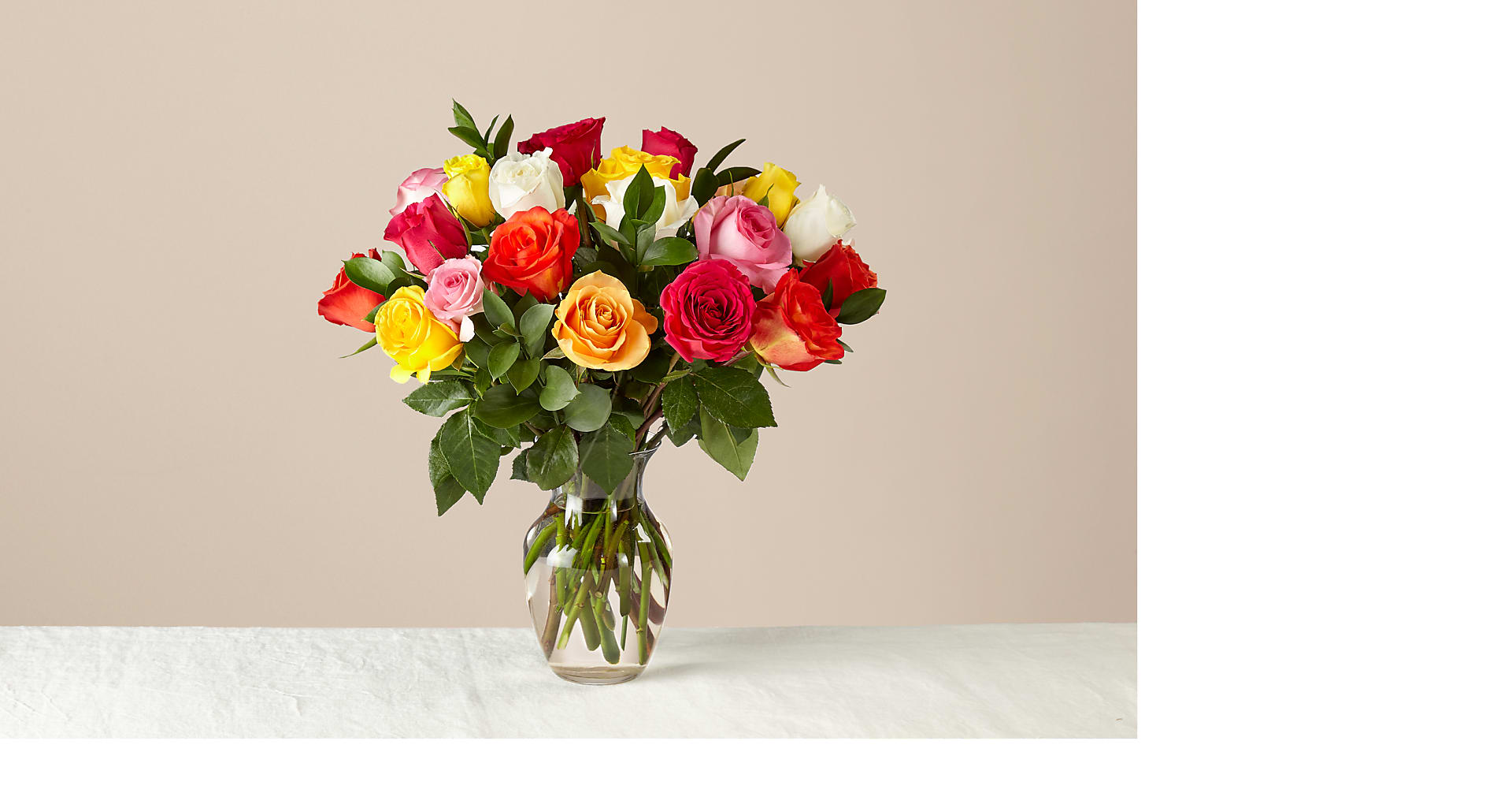 Mixed Roses with Vase - Image 1 Of 6