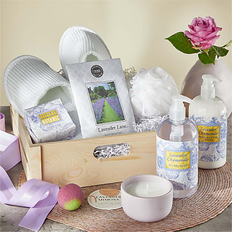 Lavender Spa Day Gift Basket