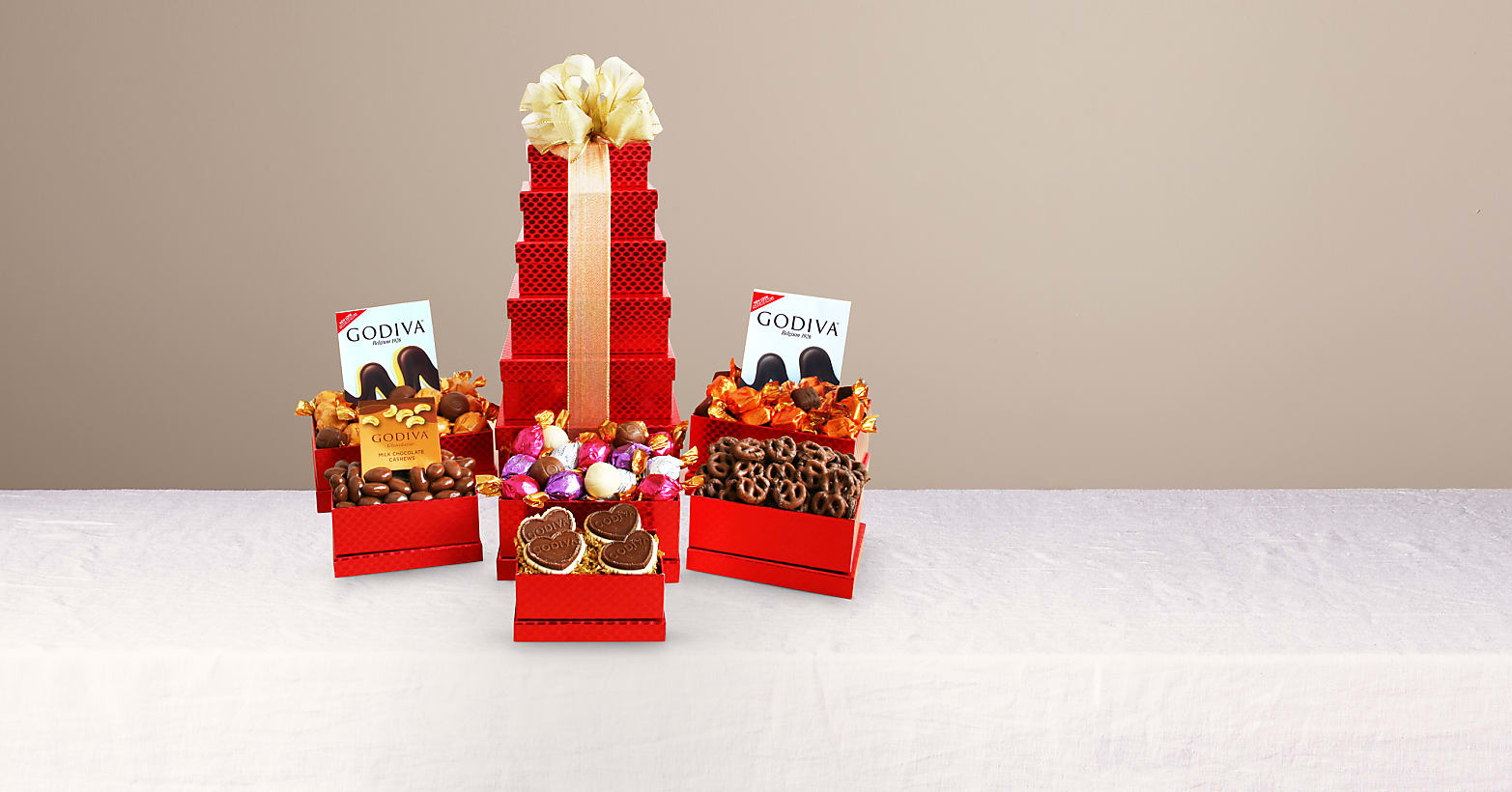 Godiva Chocolate Tower for Lovers