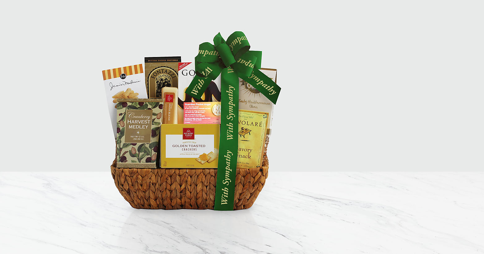 Faith and Fond Memories Sympathy Gift Basket