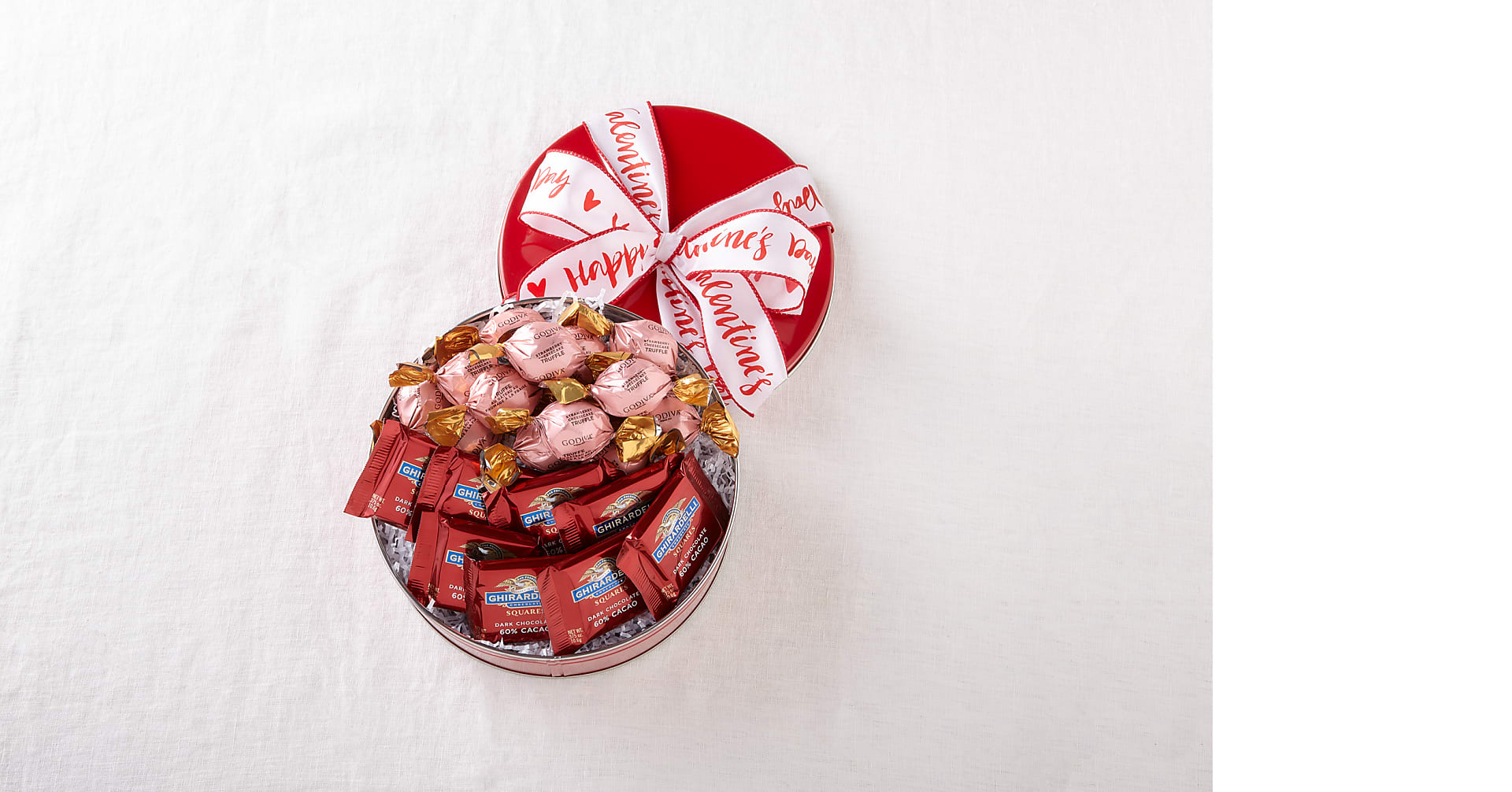 Chocolate Lover's Valentine's Assortment Gift Tin - Image 1 Of 2